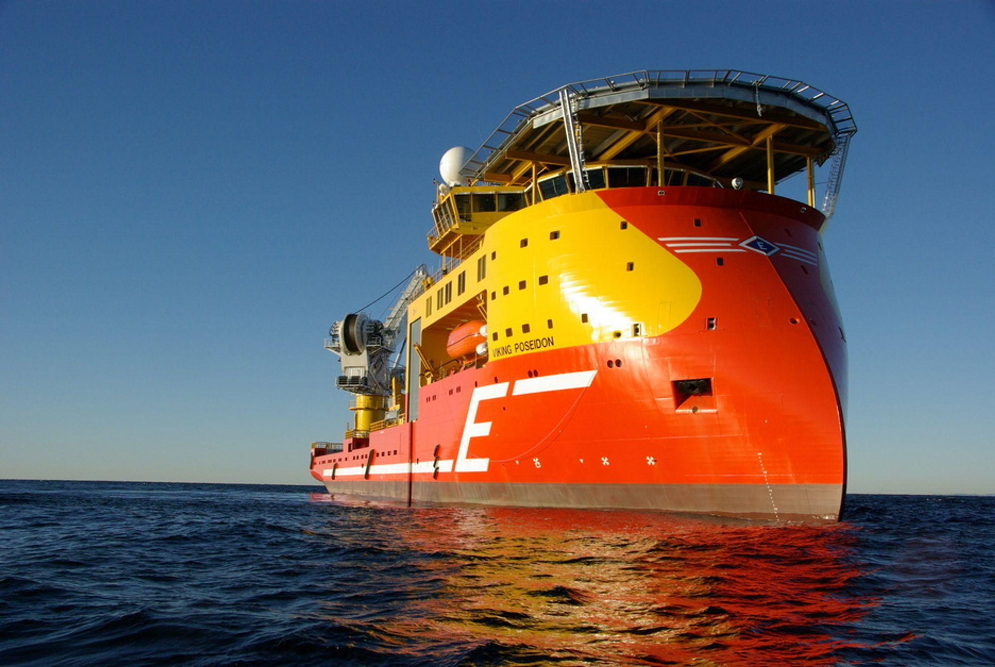 SJELDENT SYN: Viking Poseidon forsvinner til Mexicogolfen. Der vil skipet operere i åtte år. Derfor tar det tid før skipet vil dukke opp i norske farvann igjen.