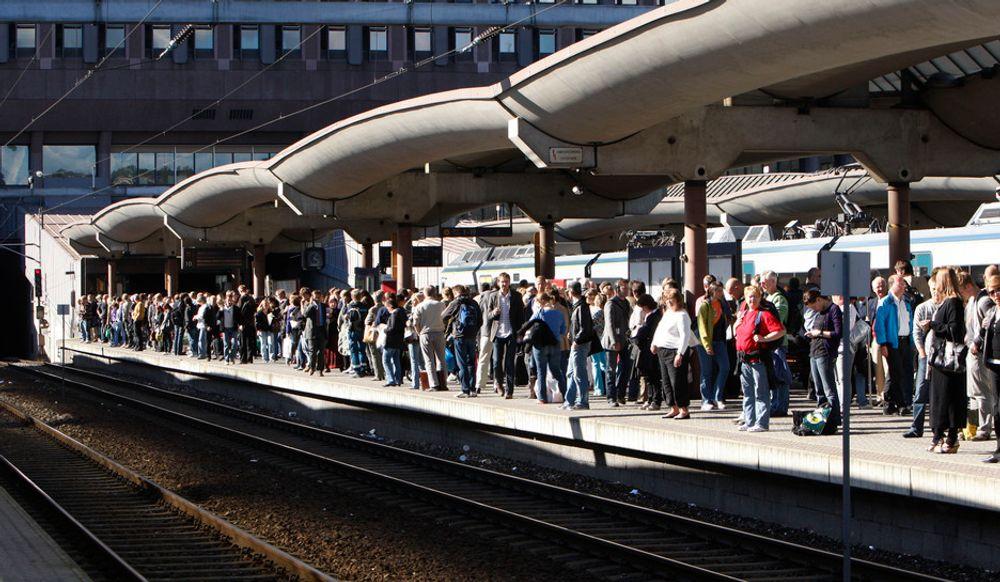SÅRBART: Osloområdet er ekstra sårbart for forsinkelser, siden ekstra mange tog og passasjerer blir rammet dersom det oppstår tekniske feil eller andre problemer med togavviklingen.