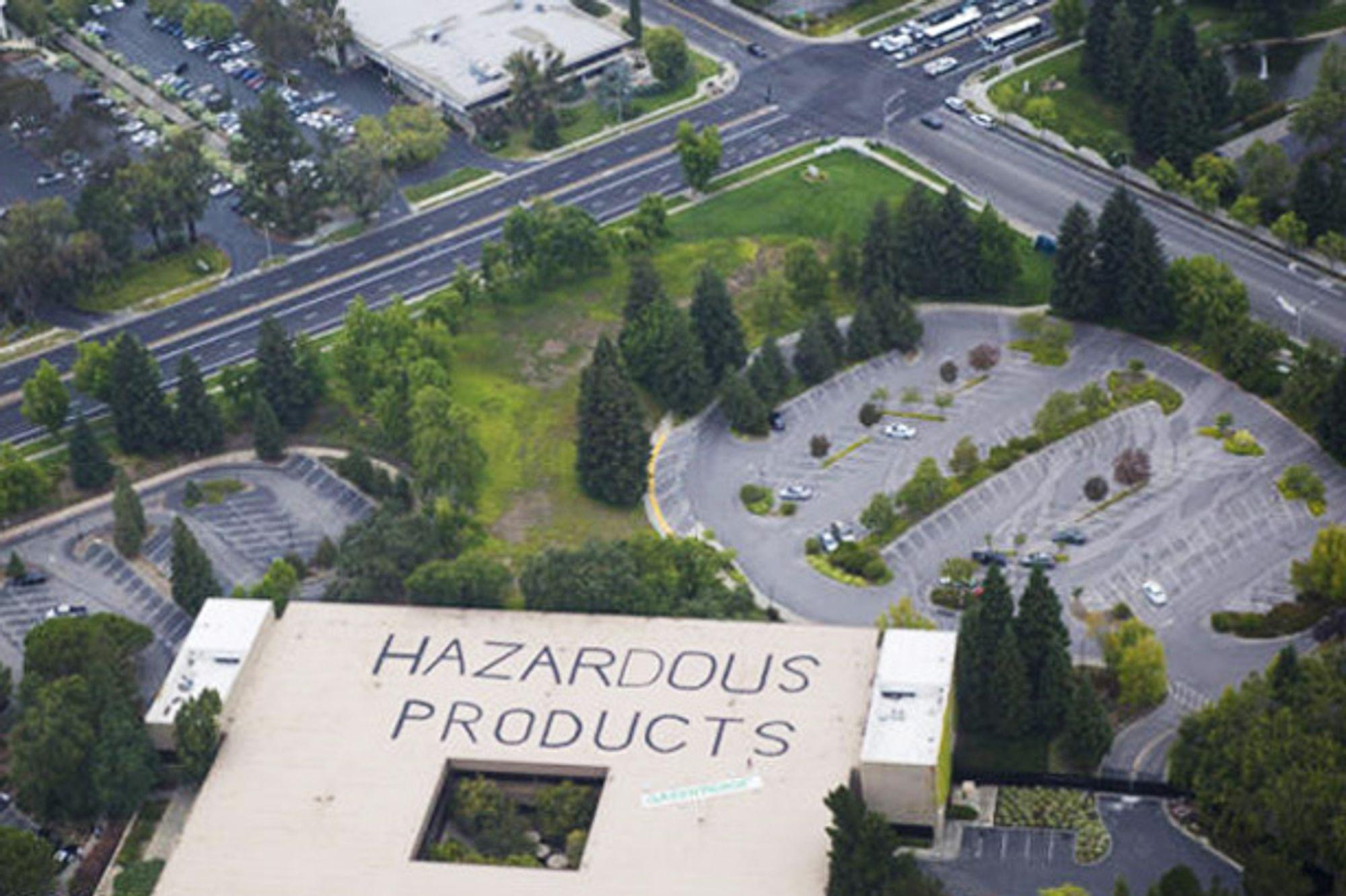 Greenpeace tok seg opp på taket av HPs hovedkvarter i Palo Alto, California, tirsdag.