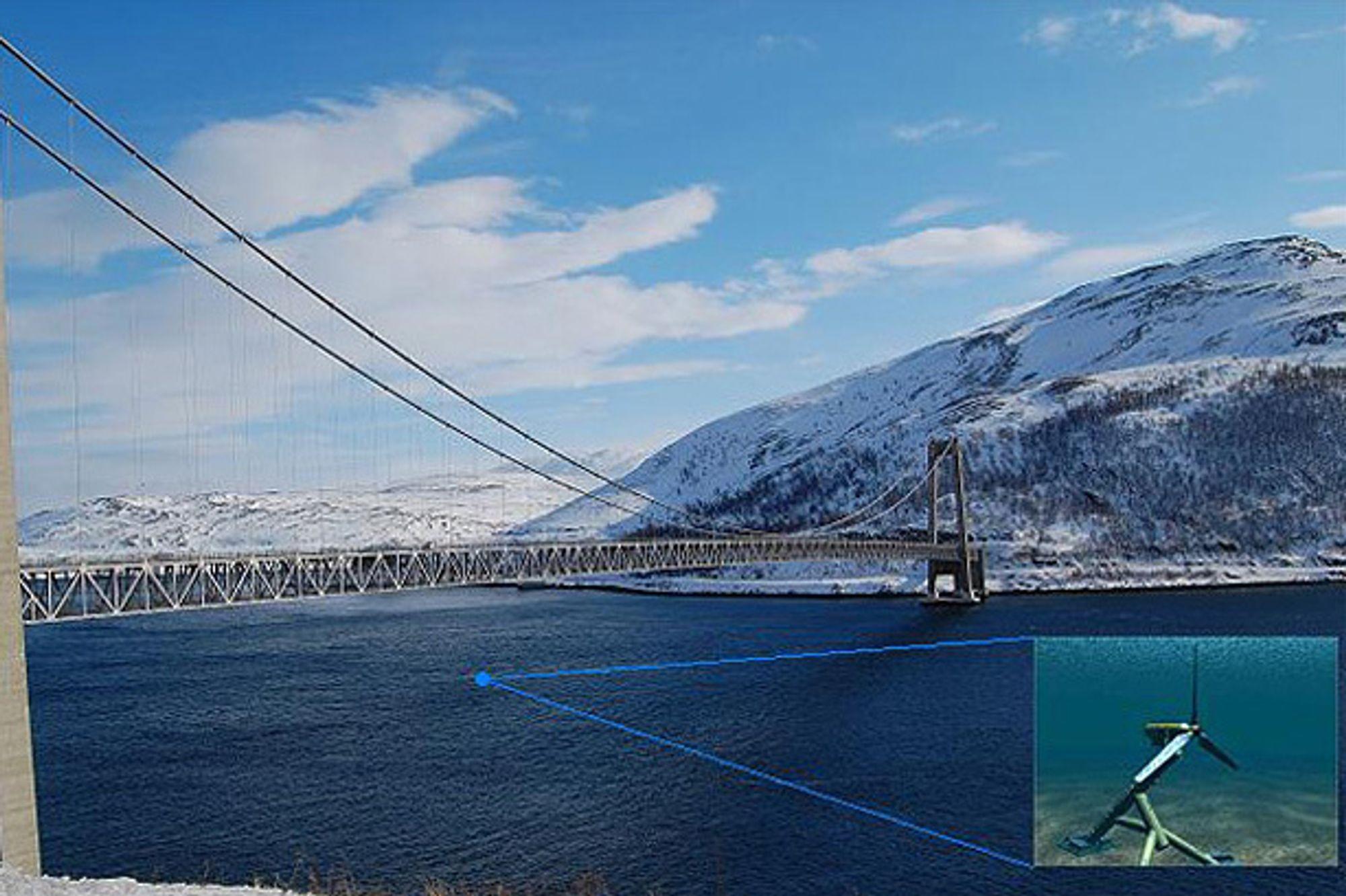 Her skal Hammerfest Strøms tidevannsturbin installeres på ny i dag.