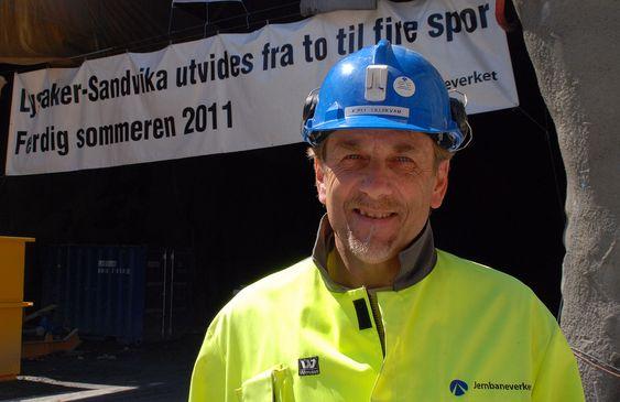 Kjell Bjarne Lillekvam, byggeleder for Veidekke i Bærumstunnelen
