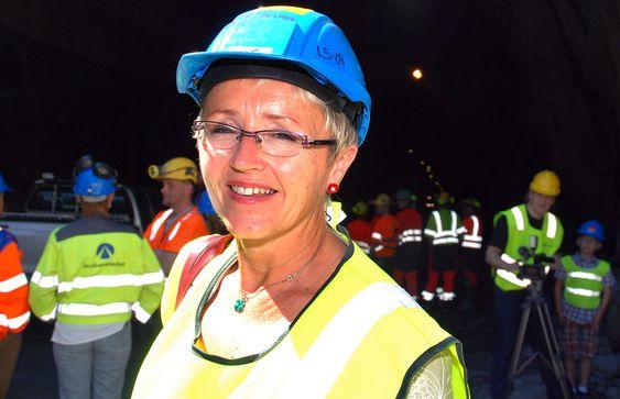 Liv Signe Navarsete, siste gjennomslag i Bærumstunnelen 26. juni 2009.