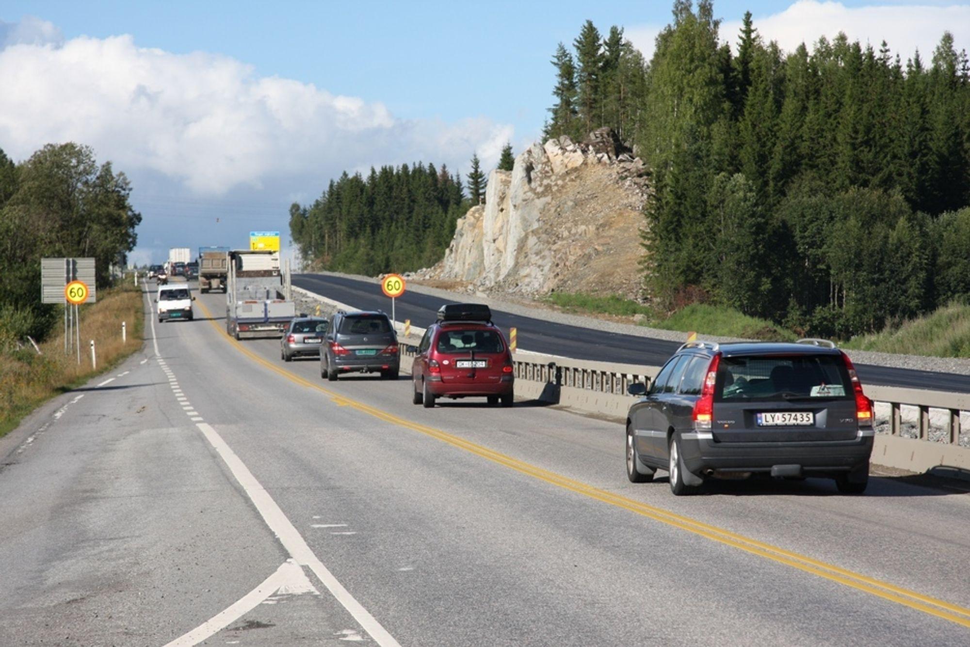 STOR BYGGEAKTIVITET: I 2009 vil antall firefelts motorveier være doblet fra 2002.