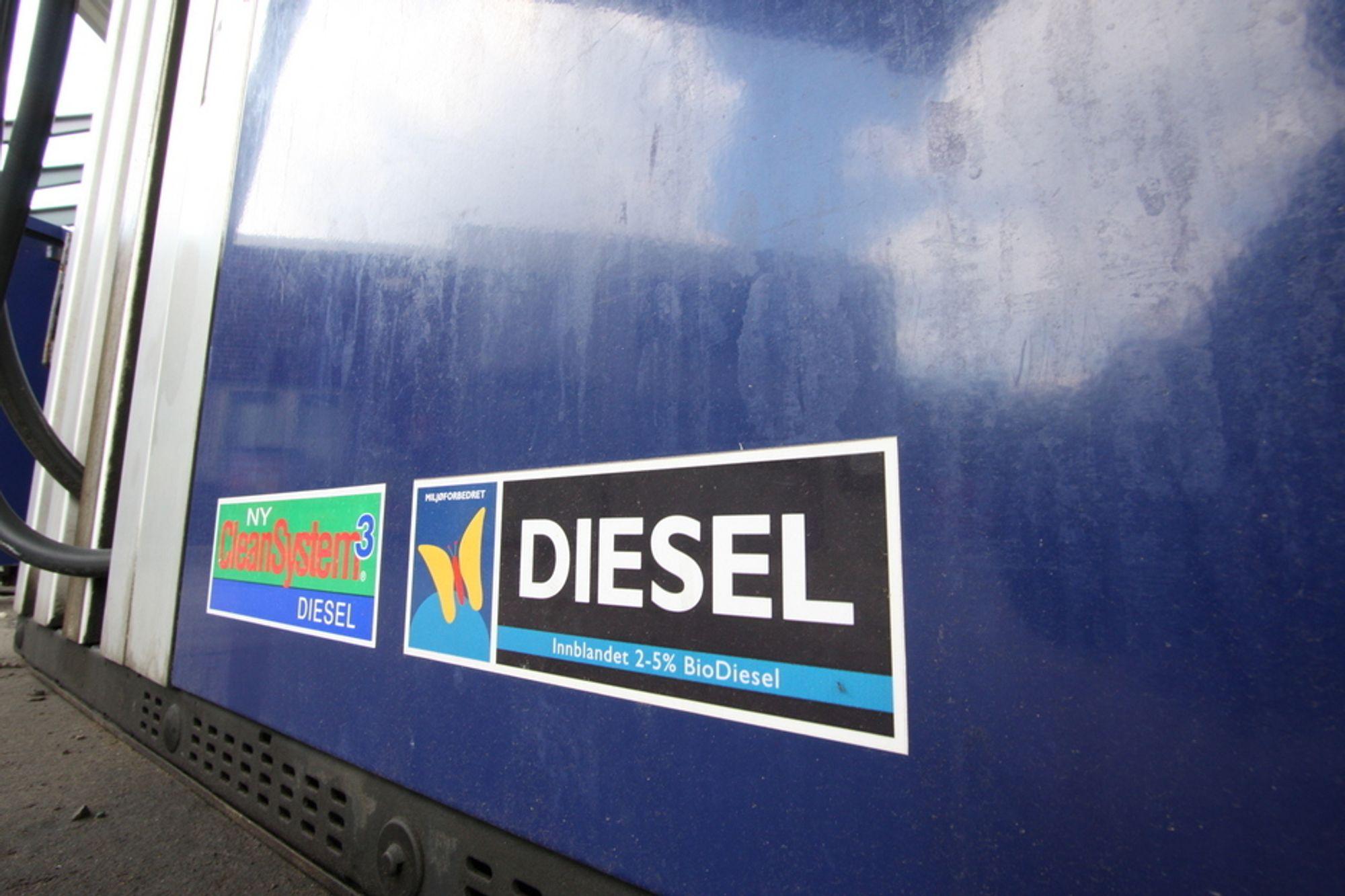 Biodiesel har inntil nå vært fritatt fra drivstoffavgiftene.