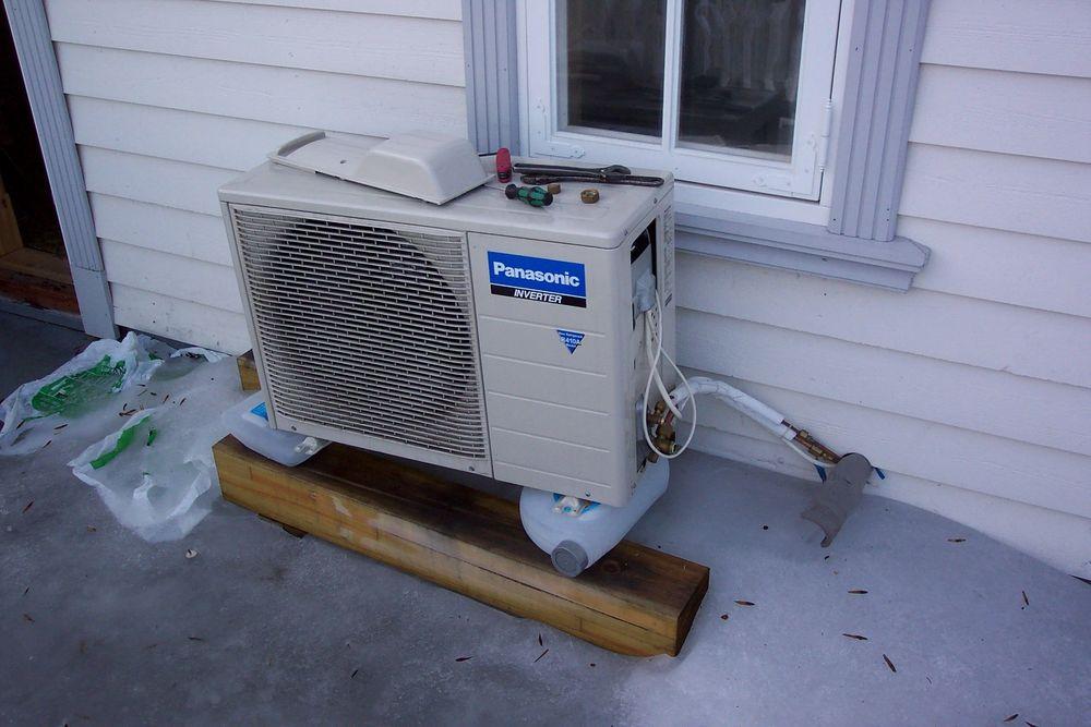 IKKE LETT:Det hjelper ikke å ha verdens beste varmepumpe, dersom monteringen svikter. Selvgjort er ikke alltid velgjort!FOTO: TU-ARKIV