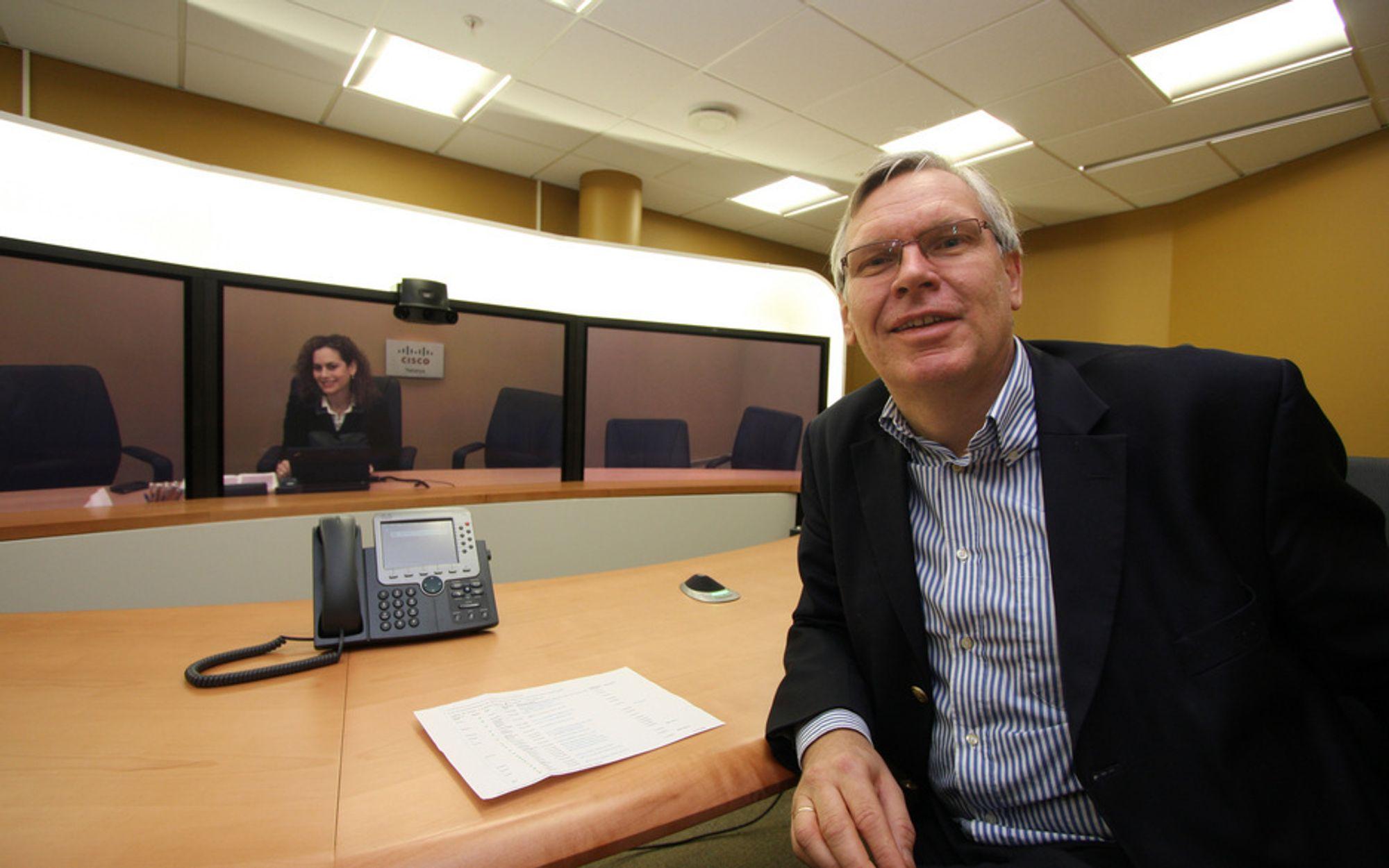 Cisco-sjef Jørgen Myrland var den som først tok opp temaet styremøter på video. Han fikk støtte blant annet fra Høyre, men de fikk ikke gehør. Nå vil Høyre forsøke på nytt.