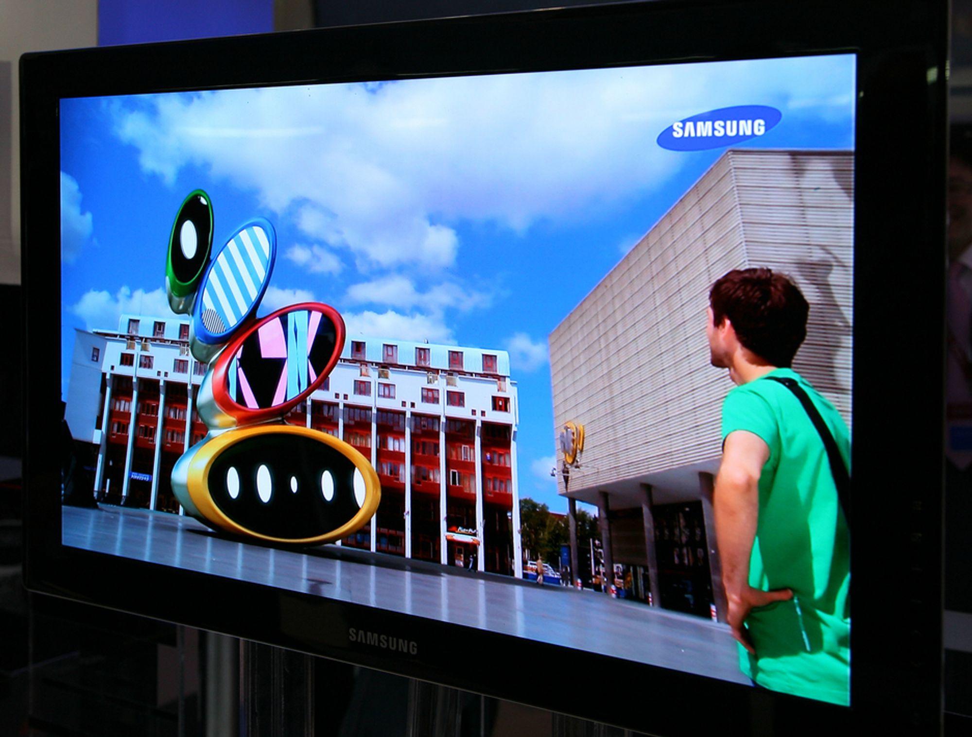 IFA: Samsung OLED-TV hadde imponerende kontrast, skarphet og fargegjengivelse.