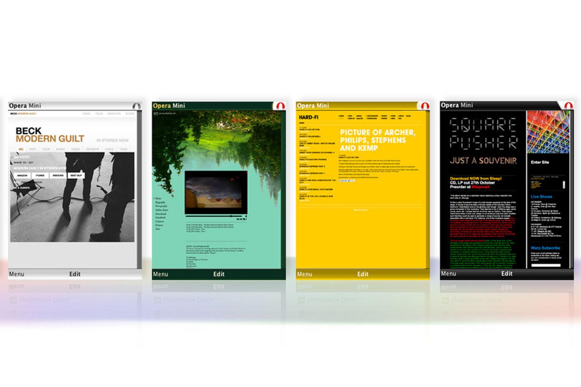 POPPIS: Nettleseren Opera mini for mobiltelefoner blir stadig mer populær.