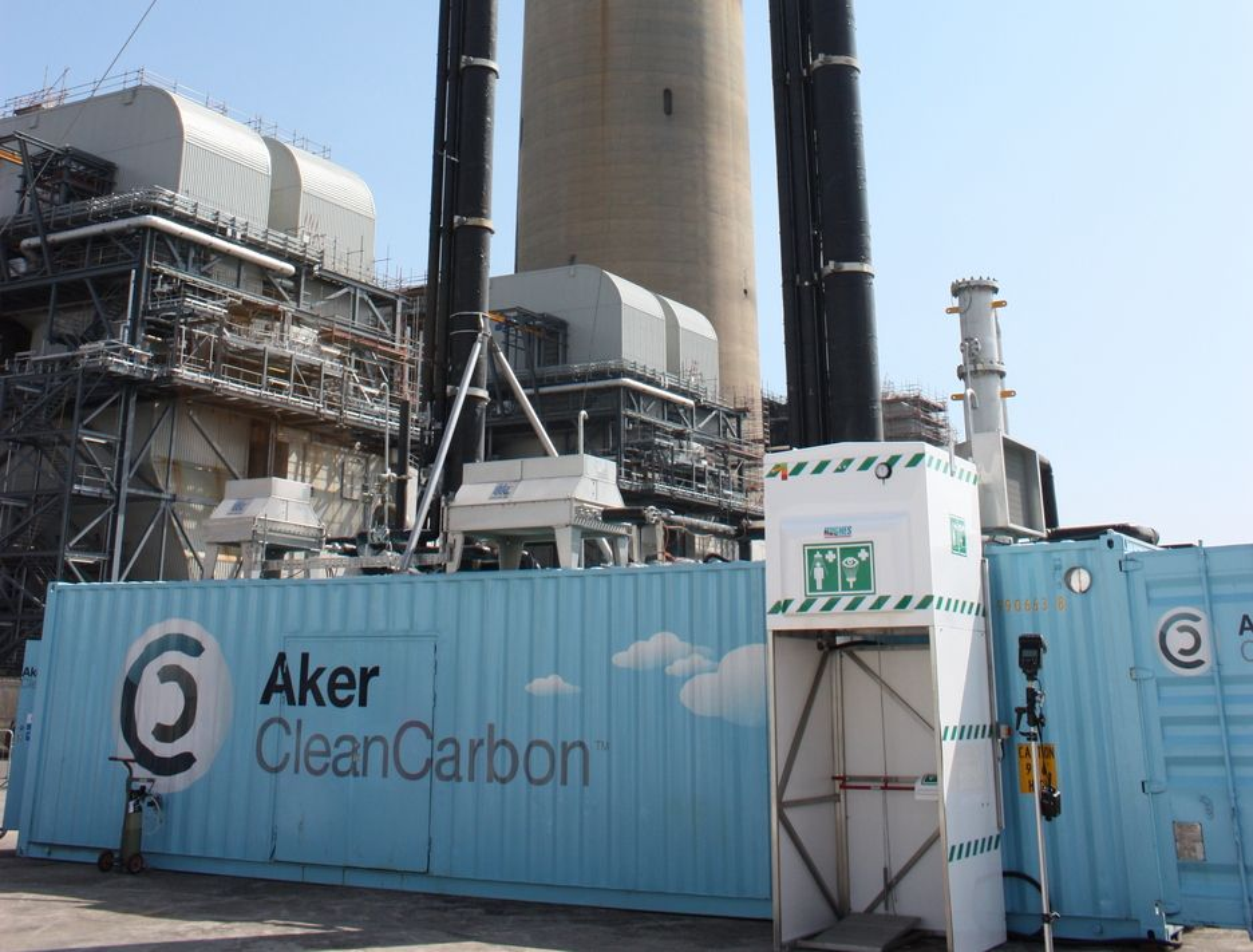 FØRST UTE: Aker Clean Carbon var de første som kapreten kontrakt for CO2-fangst i Storbritannia. Anlegget ble satt i drift ved Longannet-kraftverket i dag, fredag 29.5.05