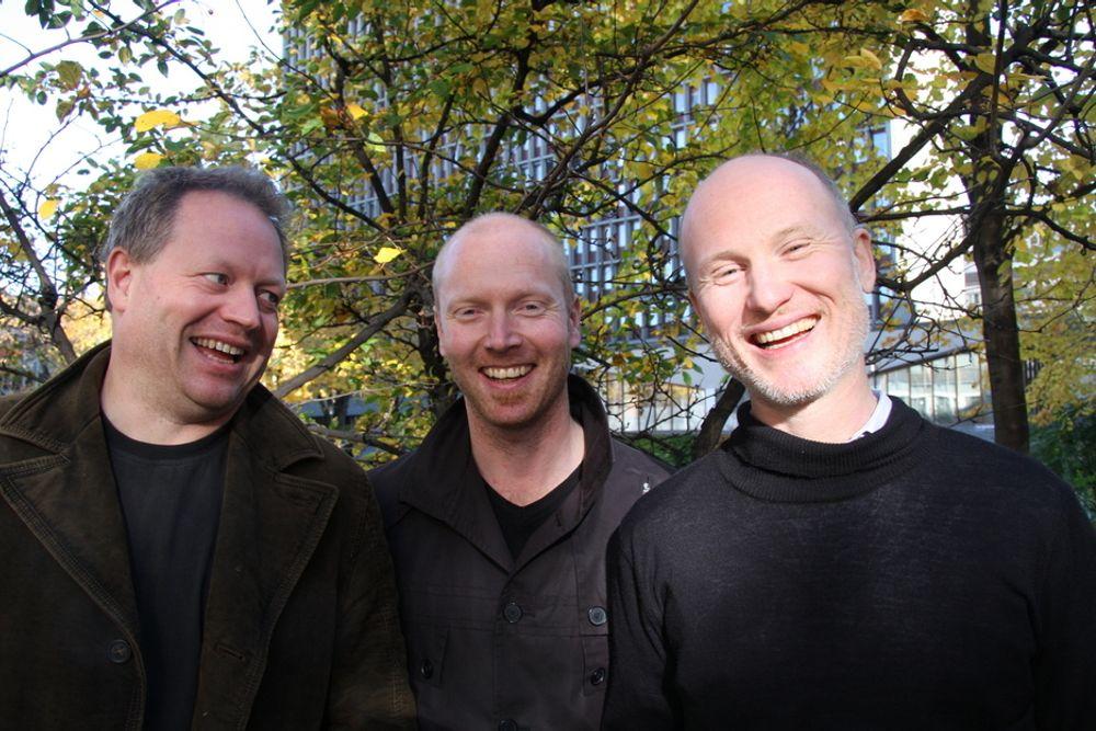 KLIMAKVOTER: Kristian Tangen (fra v. ), Atle Christiansen og Per-Otto Wold var med og starte Point Carbon, som er verdensledende på informasjon om CO2-kvoter.