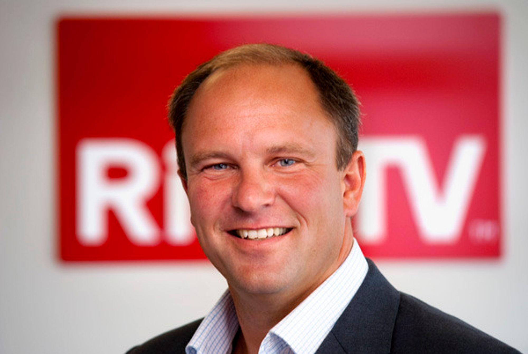 FORNØYD: Espen Thorsby, administrerende direktør i RiksTV.