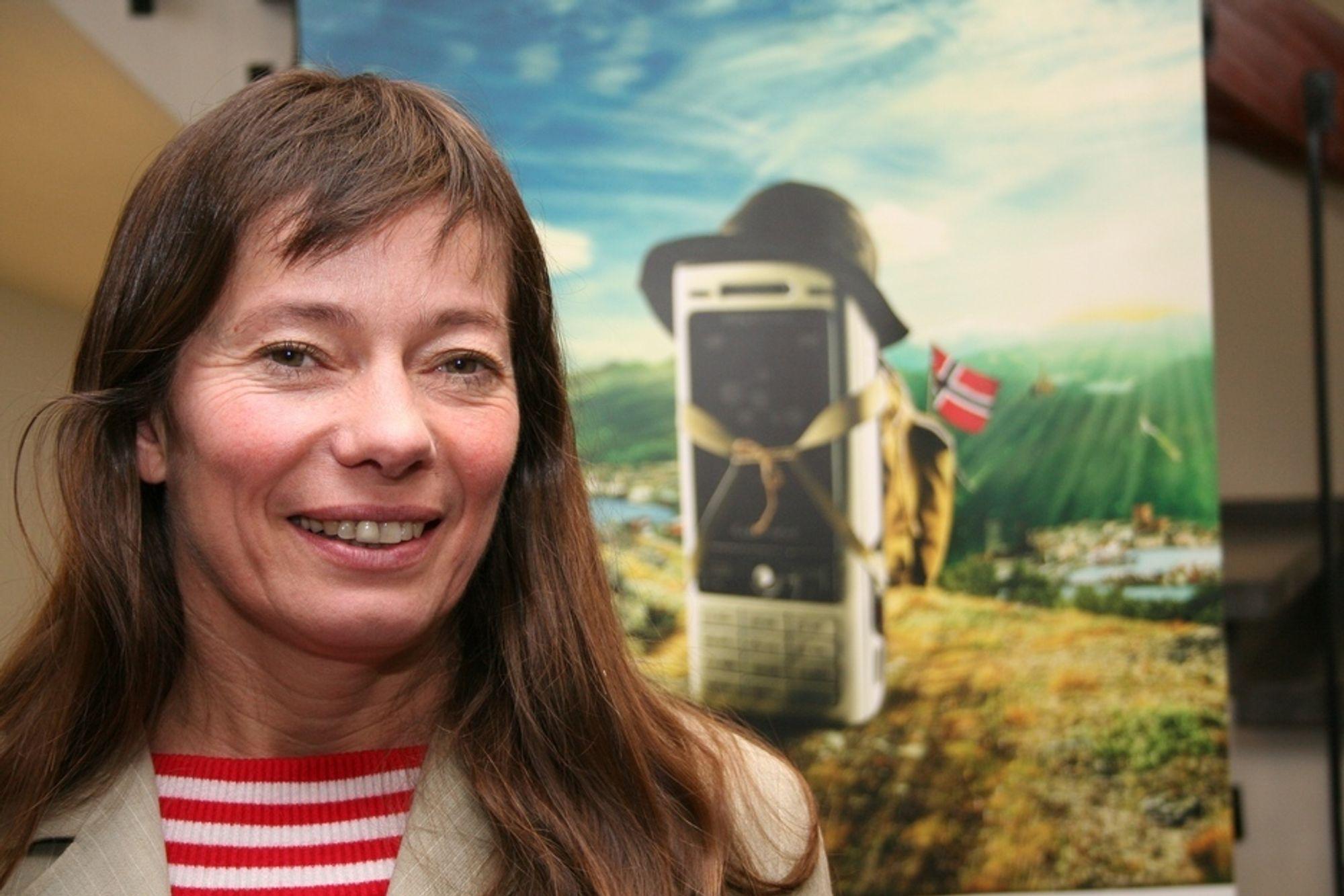 TØFT: Ingvild Myhre beskirver Network Norway som et sårbart selskap i et marked preget av tøff konkurranse.