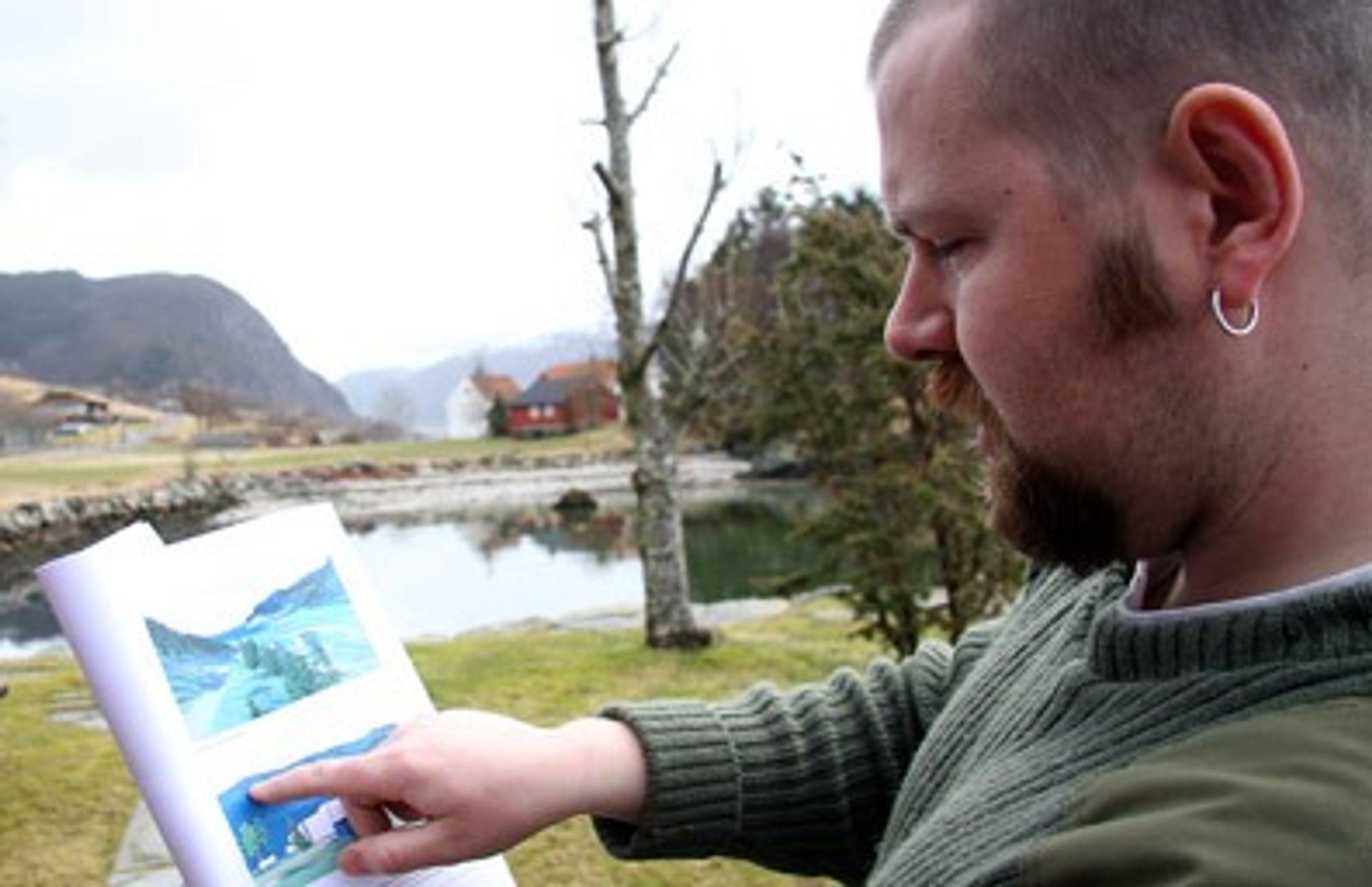 Ole Erik Thinges forklarer omfagnet av planene til Nordic Mining i Engebøfjellet.