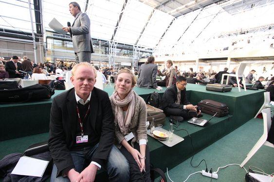 Lars Haltbrekken og Ingeborg Gjærum COP15 den 17.12.09