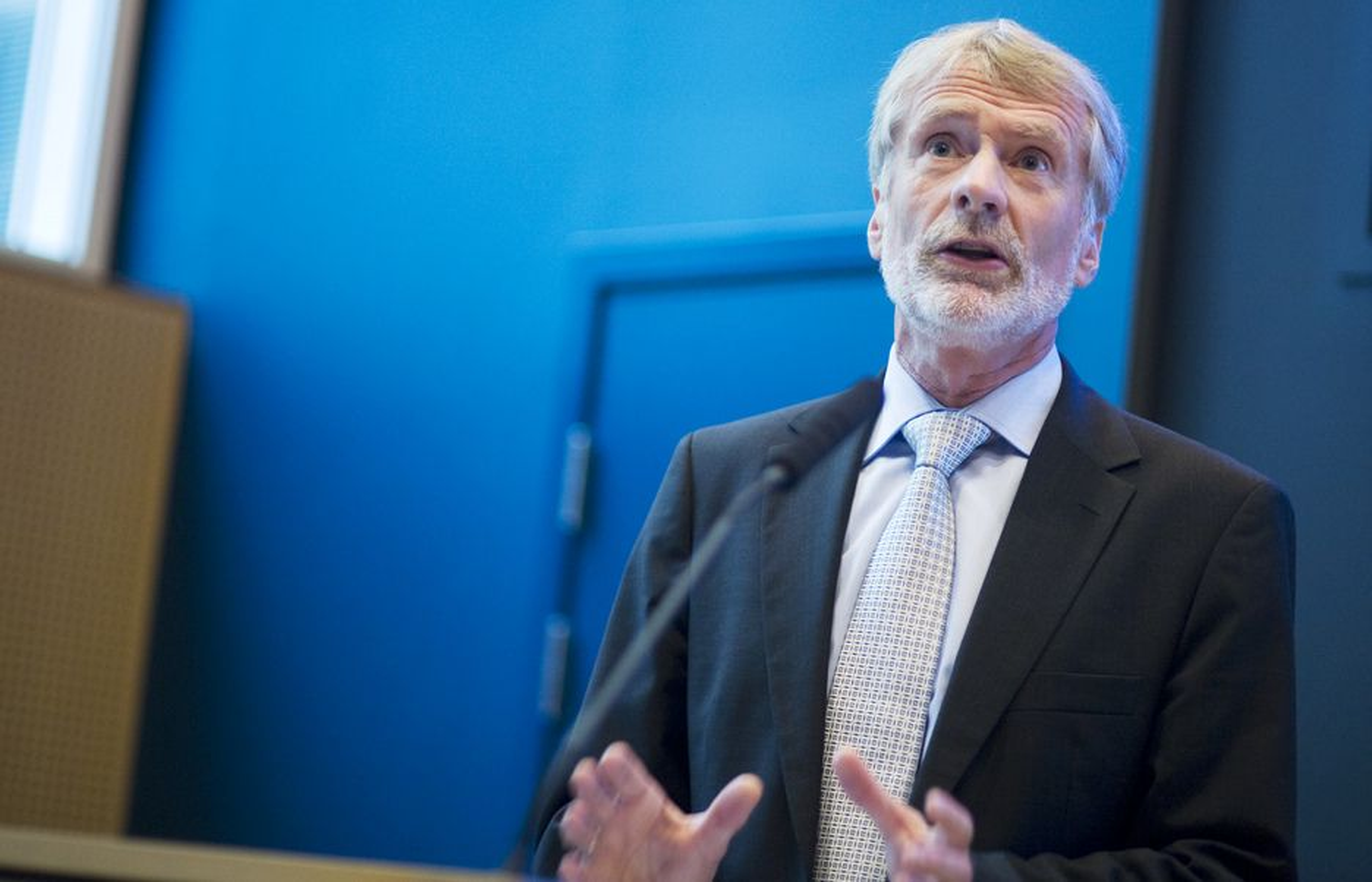 Bård Mikkelsen i Statkraft kunne presentere et driftsresultat på nær fire milliarder kroner i første kvartal.
