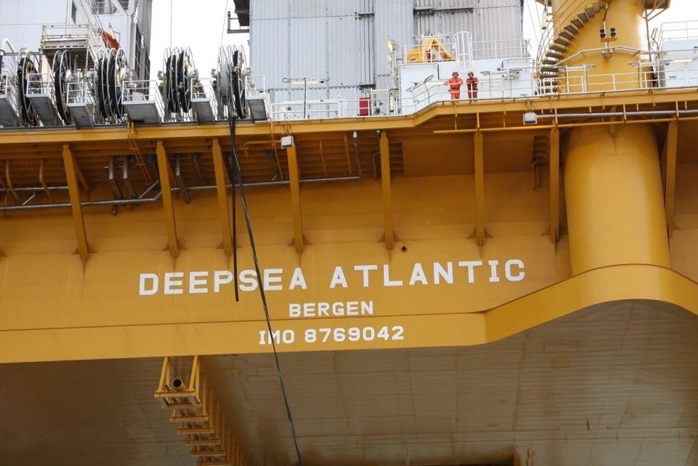 MÅTTE STOPPE: Deepsea Atlantic ble stengt for en kort periode etter en gasslekkasje fra en letebrønn.
