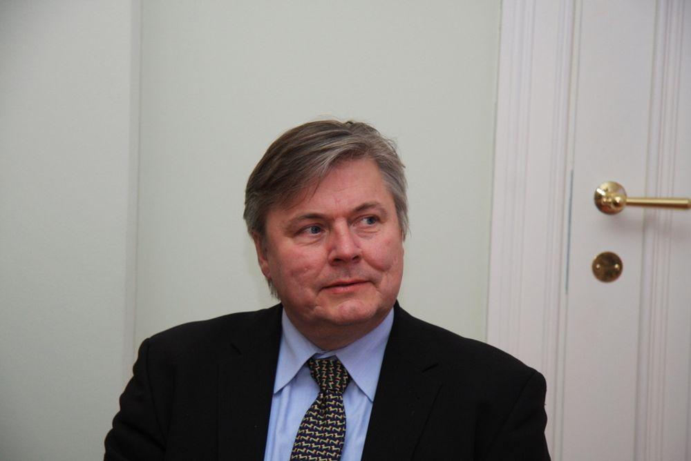 TØFFERE ÅR: Konsernsjef Henrik O. Madsen i Det Norske Veritas ser at 2009 blir et vanskeligere år enn 2008 på grunn av finanskrise.