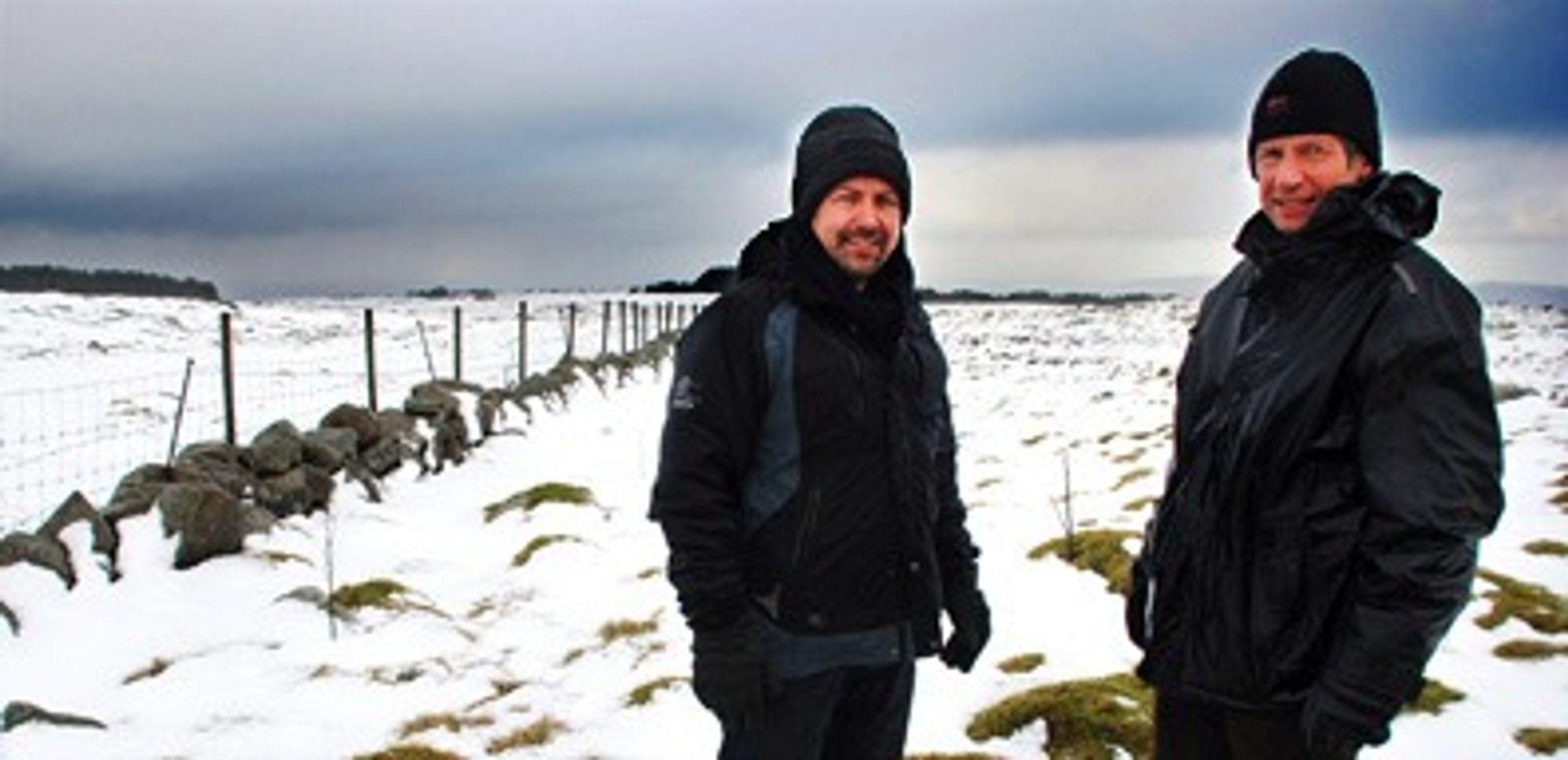 - Det føles som om vi har jobbet med dette prosjektet siden tidenes morgen, sier daglig leder Lars Helge Helvig i Jæren Energi AS og styreleder Rune Hersvik i Norsk Vind Energi AS. Men vindparken er fortsatt omstrid i deler av lokalmiljøet.