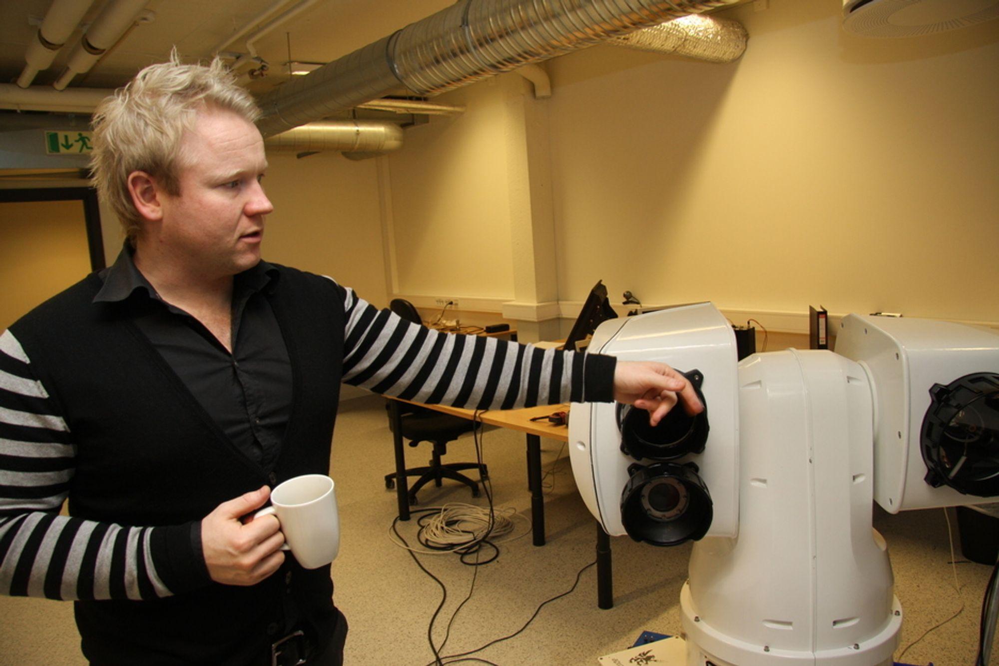Lars Solberg, daglig leder i Aptomar, gleder seg over 35 friske millioner fra investorer.