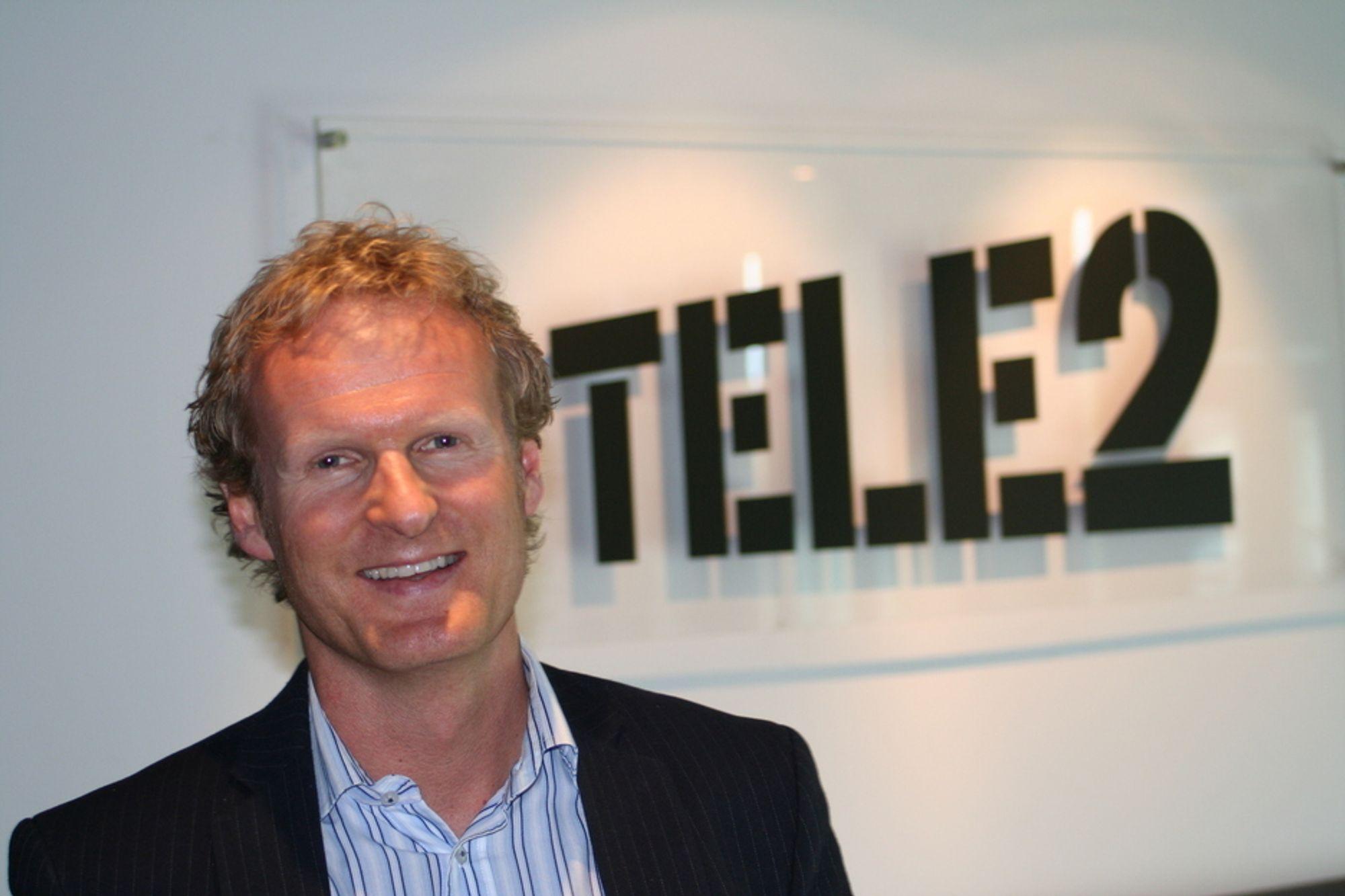 Haakon Dyrnes, administrerende direktør i Tele2.
