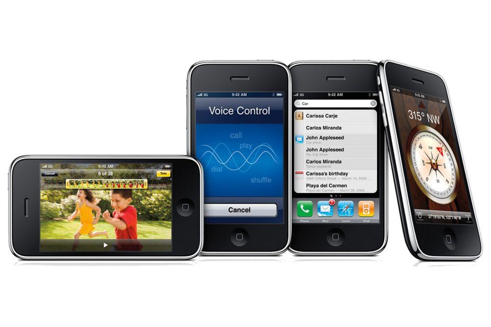 Du må ut med drøye 5000 kroner for en iPhone 3GS 16 GB fra Netcom.
