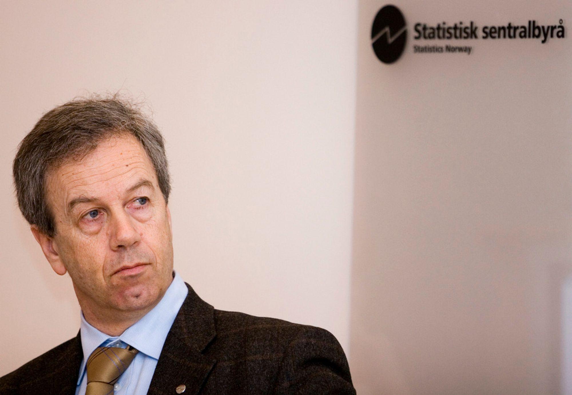 Øystein Olsen, administrerende direktør i Statistisk sentralbyrå.