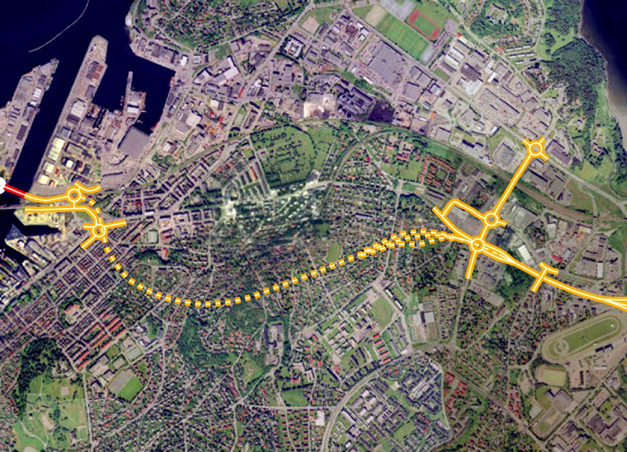 Skanska får det største oppdraget i Strindheimtunnelen. Hovedløpene og rampene som inngår i entreprisen omfatter mer enn 5 km tunnel.