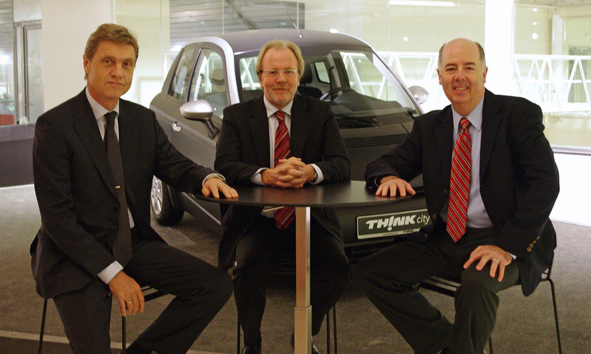 Thinks nye ledergruppe med Helge Nerland (f.v), Jan Brentebråten og Richard Canny.