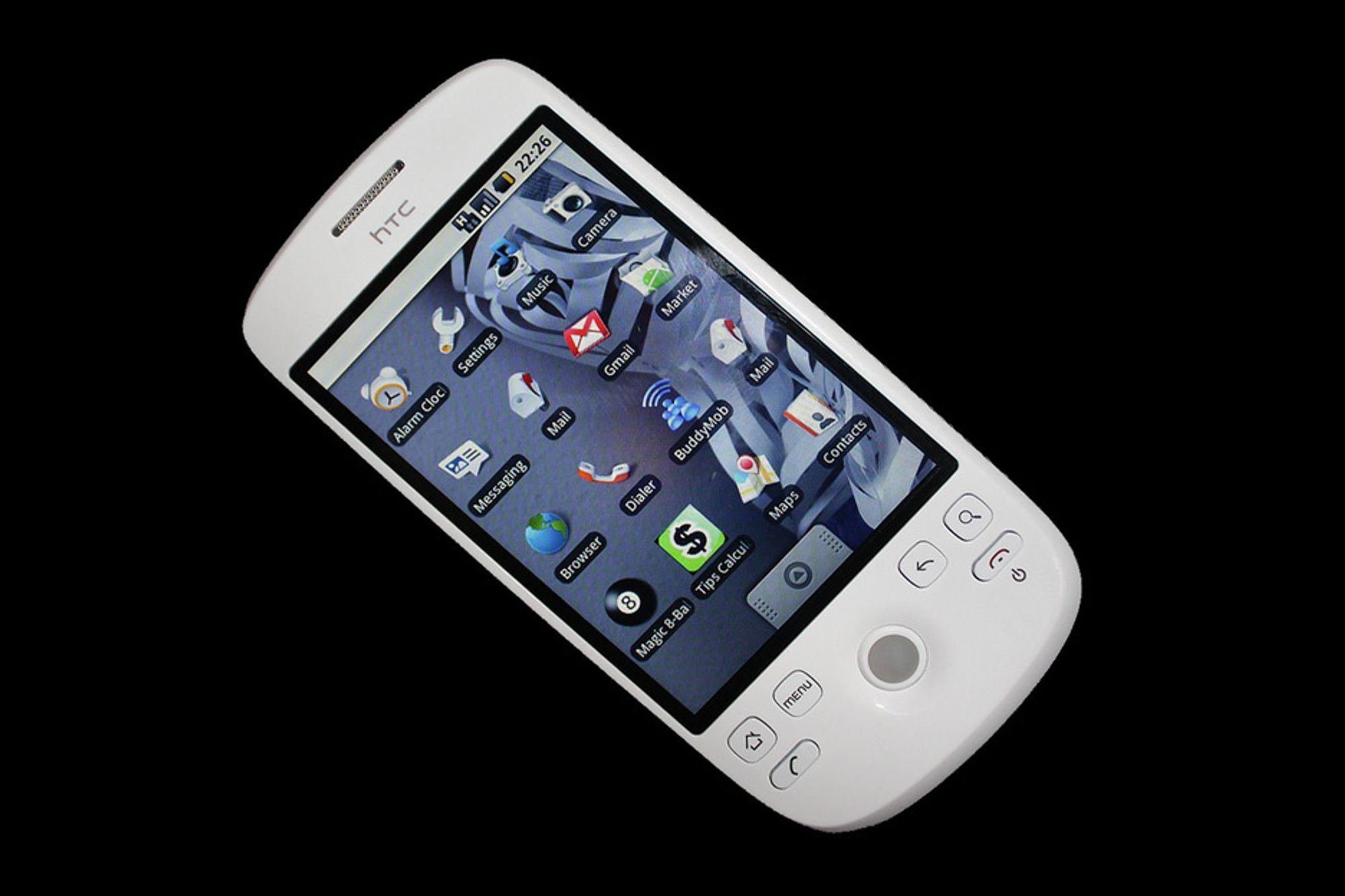 LEKKER:Veldig mye minner om iPhone med HTCs nye Meteor som er utstyrt med Googles Andriod operativsystem.