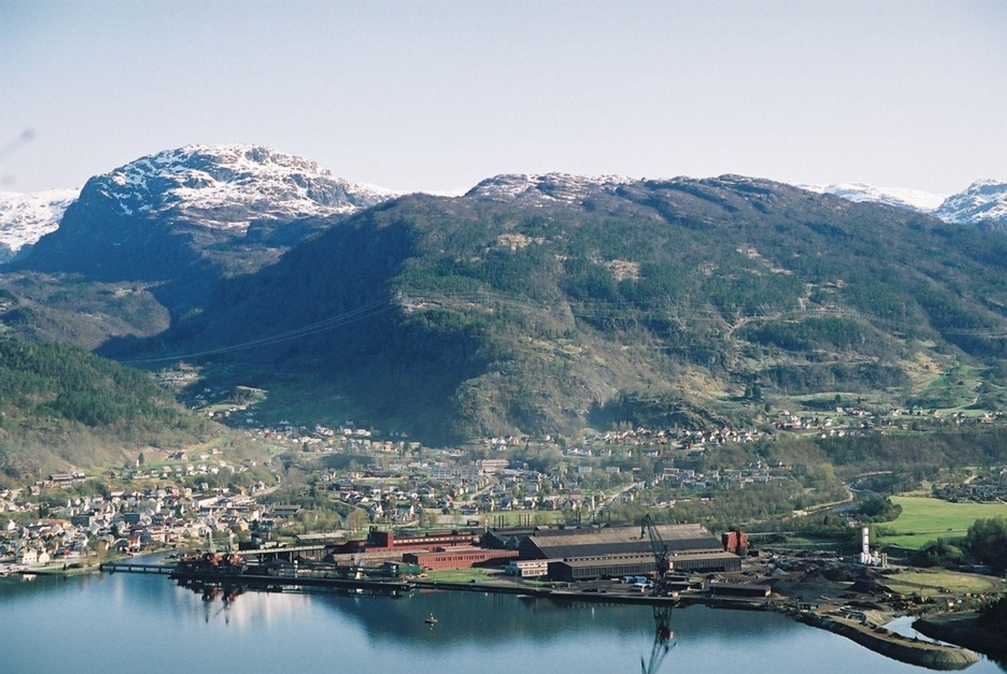STRØM: Eramet Norway vil lage kraft av gassen i stedet for å brenne den.