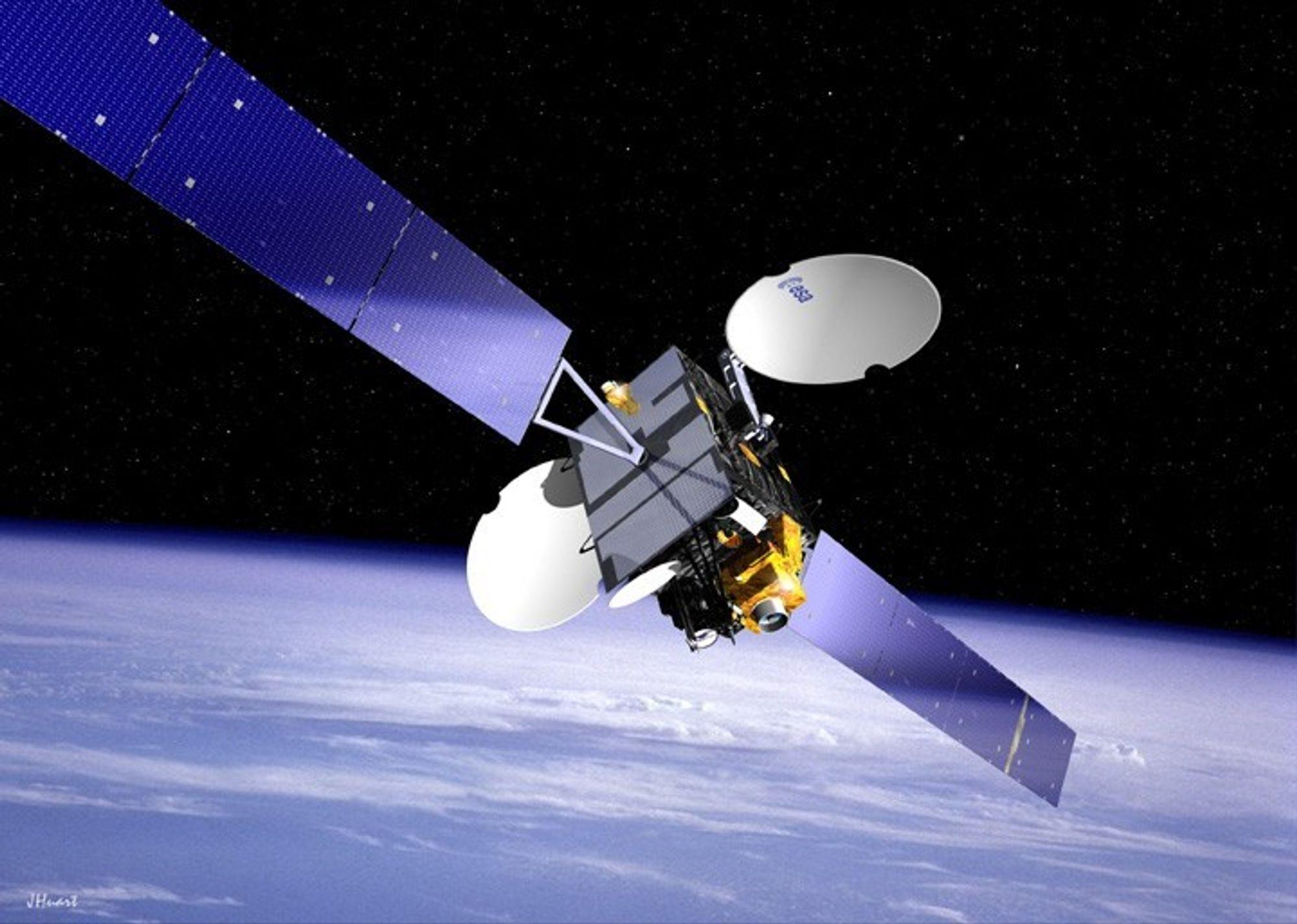 FØRSTE GANG: Romkollisjoner er sjeldne. Og aldri før har to fungerende og intakte satellitter vært i sammenstøt, ifølge NASA.