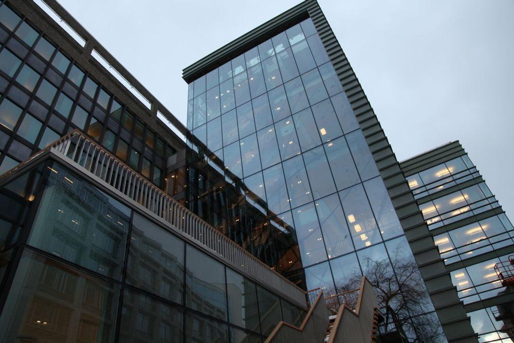 Åpen: NHOs nye hovedkvarter har vist seg å være dårlig sikret mot datatyverier.