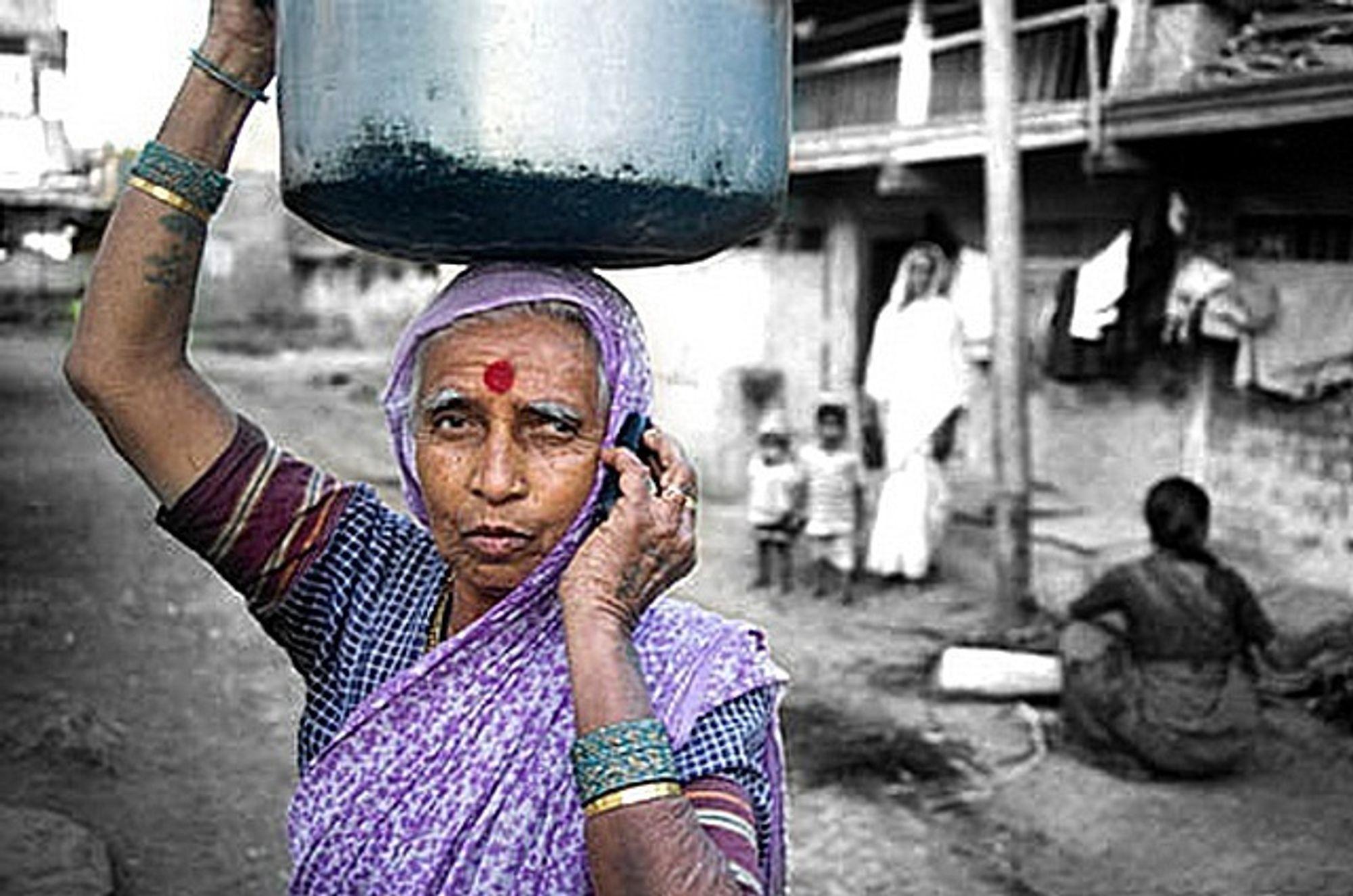 FOR ALLE: Uninor dekker halve Indias befolkning med sitt nye mobilnett.