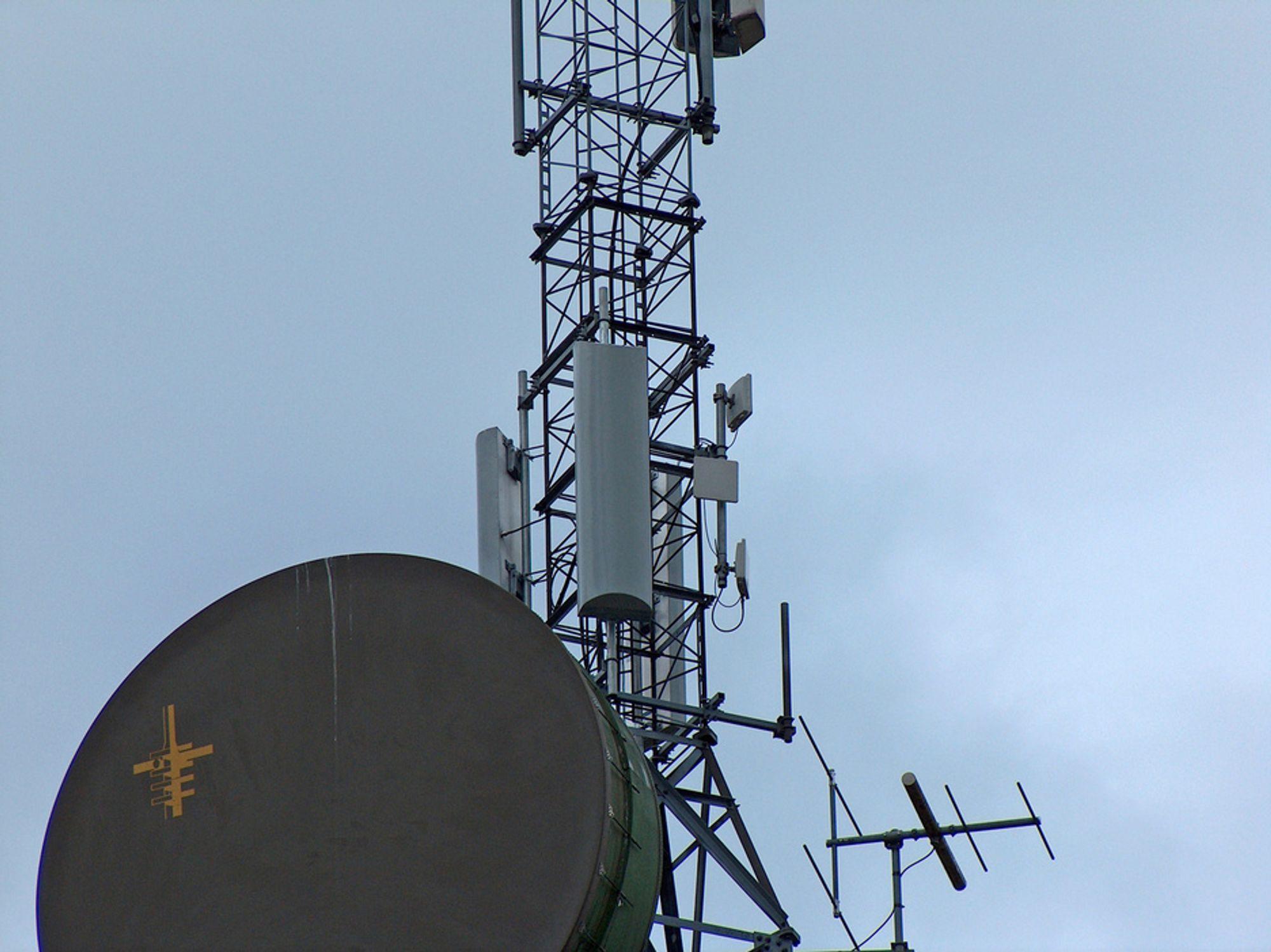Det hardner til i det mobile bredbåndsmarkedet. Bildet viser en basestasjon for ICE - nettet som bruker de gamle NMT-frekvensene.