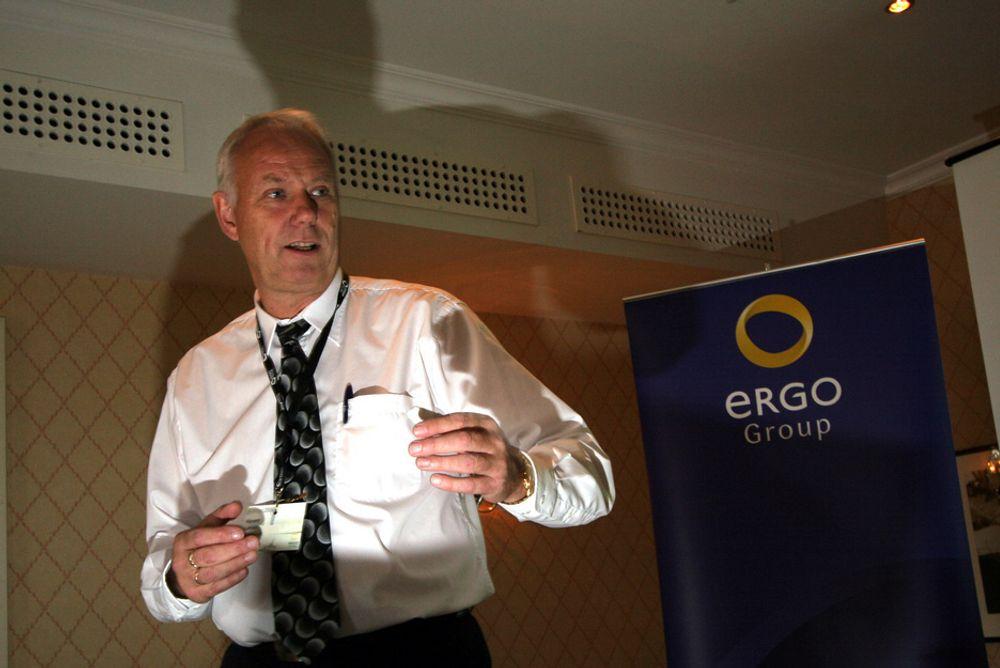 """KONGE PÅ OFFENTLIGE IT-TJENESTER: Veteranen Håvard Larsen har i noen år vært direktør for offentlige tjenester i ErgoGroup. Nå får han et utvidet mandat i det nye forretningsområdet """"Løsninger"""". Han har tidligere vært administrerende direktør i TDC Norge, TDC Internordia og Compaq Norge (nå fusjonert med HP)."""