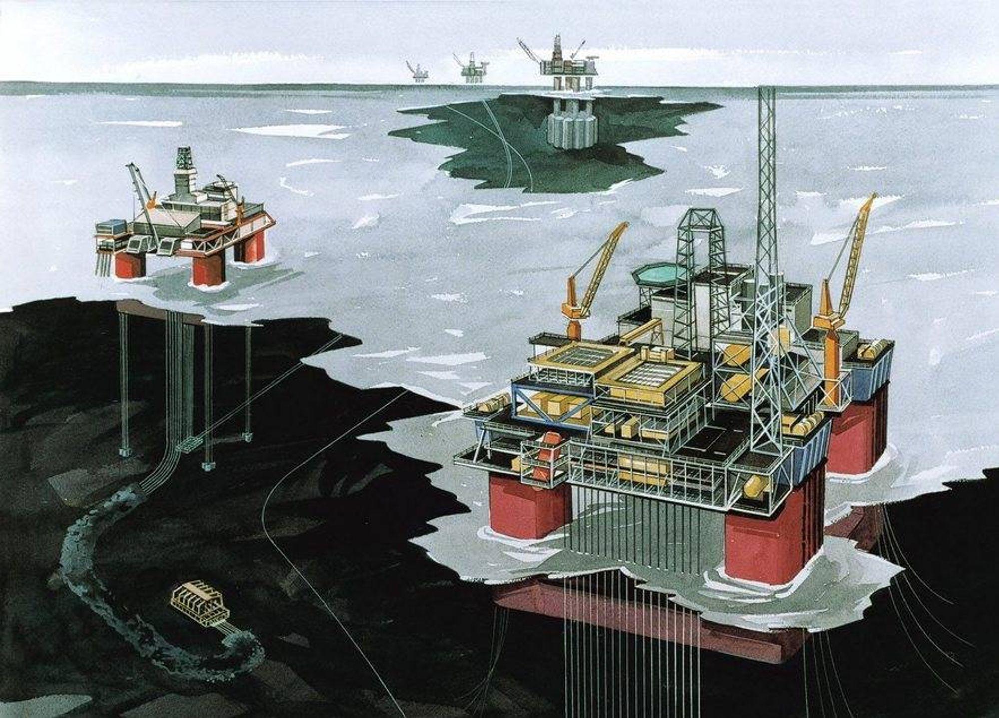 OLJEFUNN: StatoilHydro fant olje i et område mellom Snorre og Statfjord.