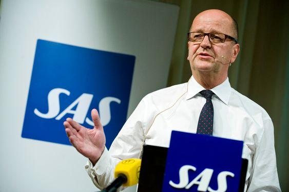 STOCKHOLM 20090428 SAS vd och koncernchef Mats Jansson presenterar flygbolagets delårsrapport januari-mars 2009, på SAS huvudkontor i Frösundavik. Foto Bertil Ericson / SCANPIX kod 10000