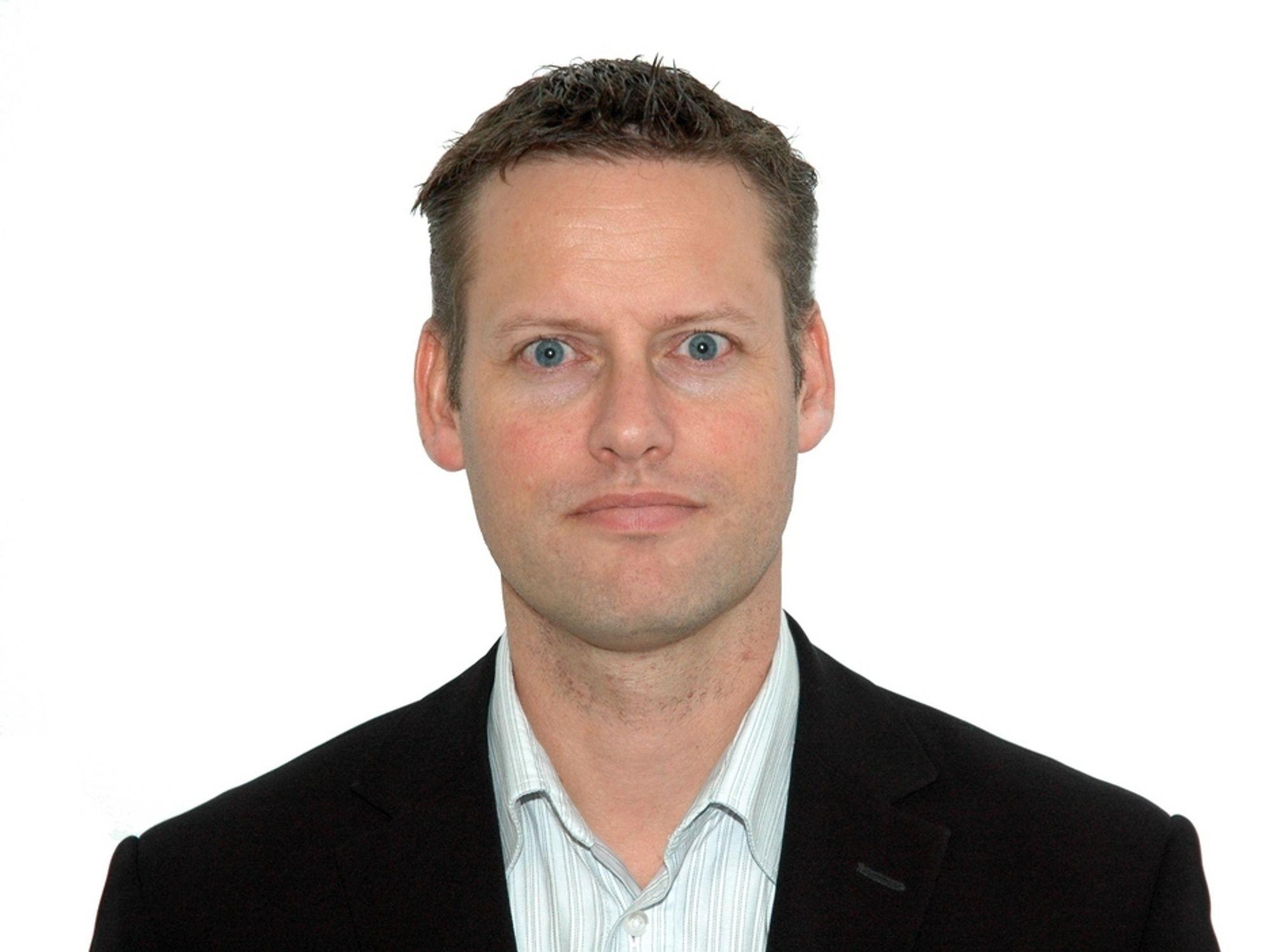 OPP: Geir Hansen rykker opp fra teknologidirektør til toppsjef hos Geodata.