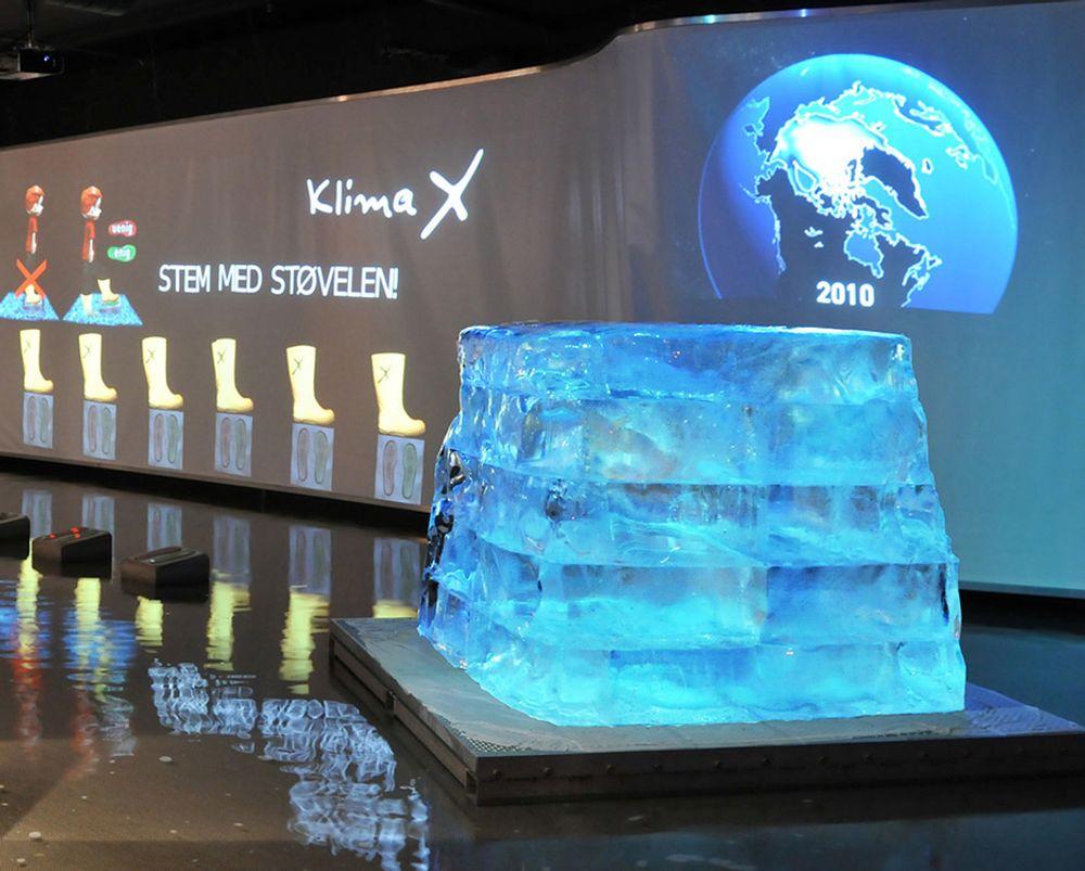 Teknisk Museum vant prisen med sin interaktive utstilling Klima X.