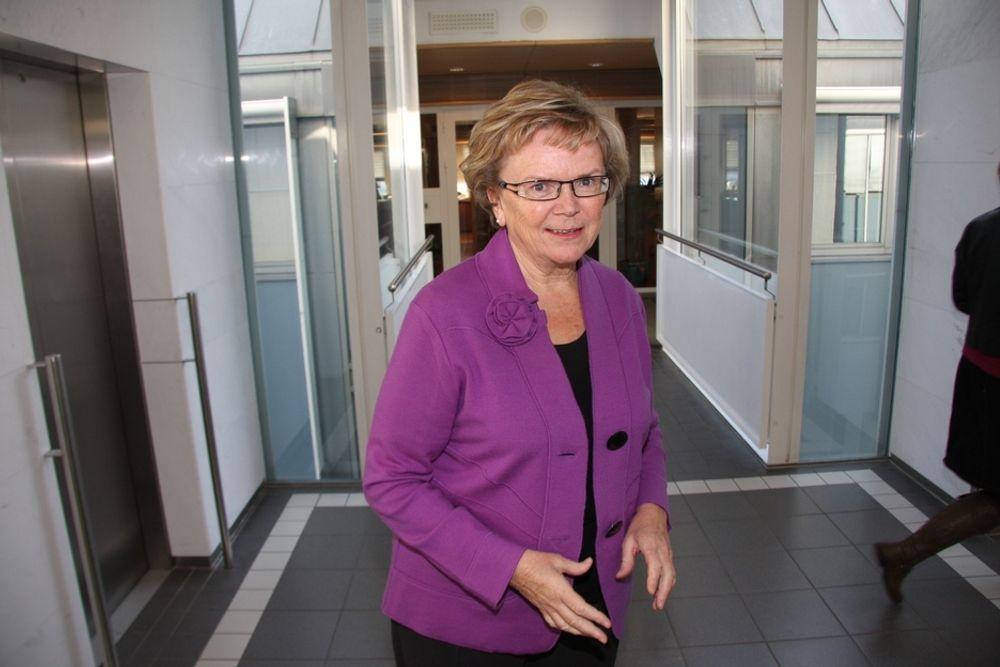 STATEN BETALER: Samferdselsminister Magnhild Meltveit Kleppa forutsetter at staten skal betale utbedringene på riksveg 2.