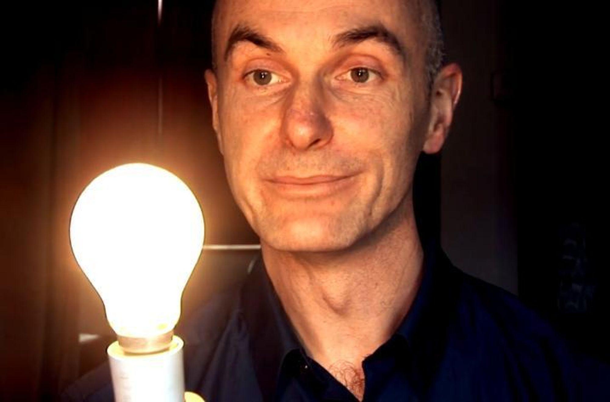 BEKYMRET: ¿ Det er bekymring for at det ikke er nok elektrisitet fra 2016 av, sier professor David McKay, som snart blir spesialrådgiver for det britiske energidepartementet. Han ber folk slutte å si nei til fornybar energi, som han mener det er sterkt behov for mer av.