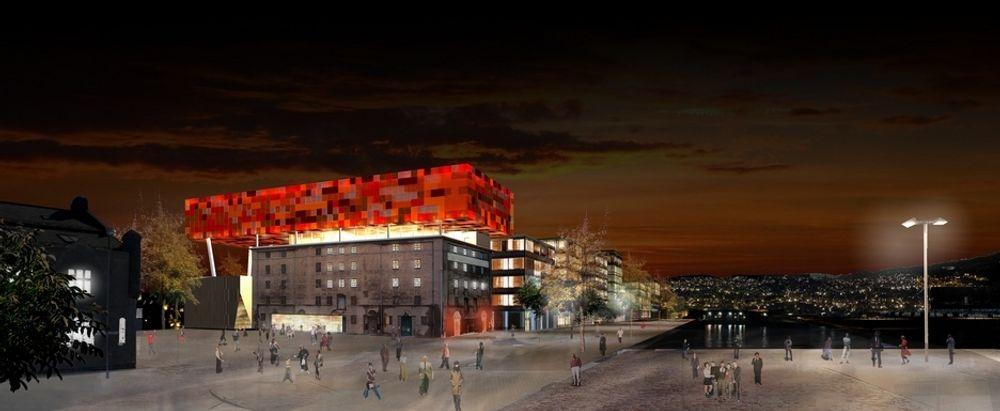13.000 LED-lys lyser opp Trondheim