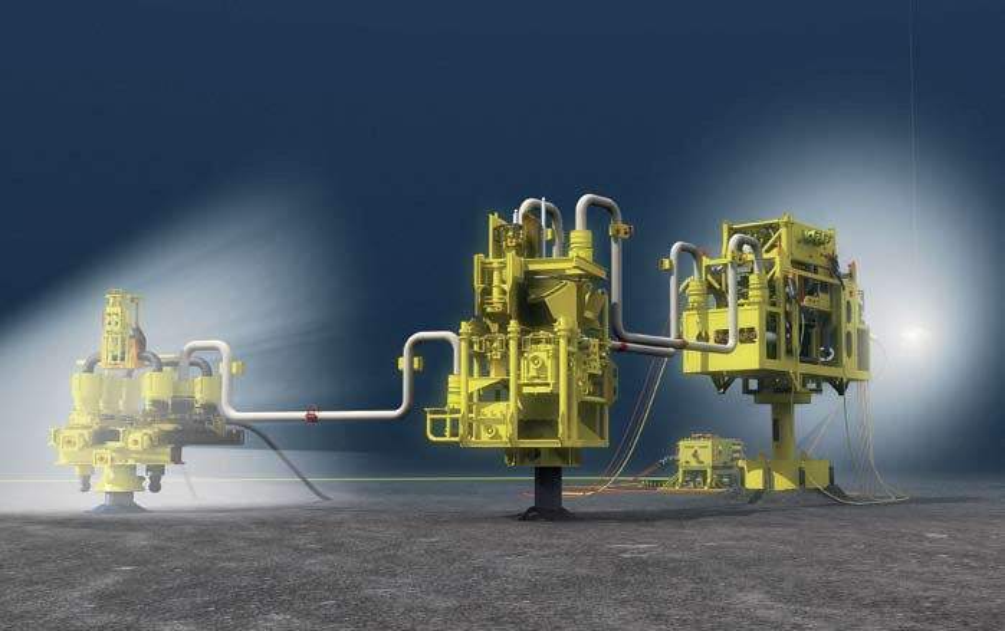 FORSTERKER: Oljetrykkforsterkeren til King-feltet er utviklet av Aker Kvaerern Subsea og Gunder Homstvedt.