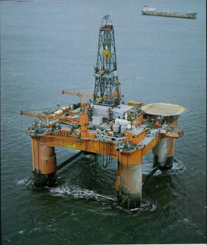 FANT GASS: Boreriggen Transocean Winner (ex Treasure Saga) fant gass for StatoilHydro. Rigger er den første i en serie av GVA 4000 designet. Nå borer den en avgrensingsbrønn i Corvus forat StatoilHydro skal finne mer ut om størrelsen på funnet.
