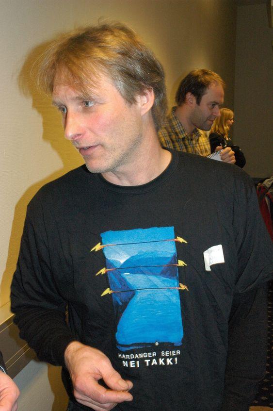 Sekretær Klaus Rasmussen i Folkeaksjonen i Hardanger for sjøkabling.