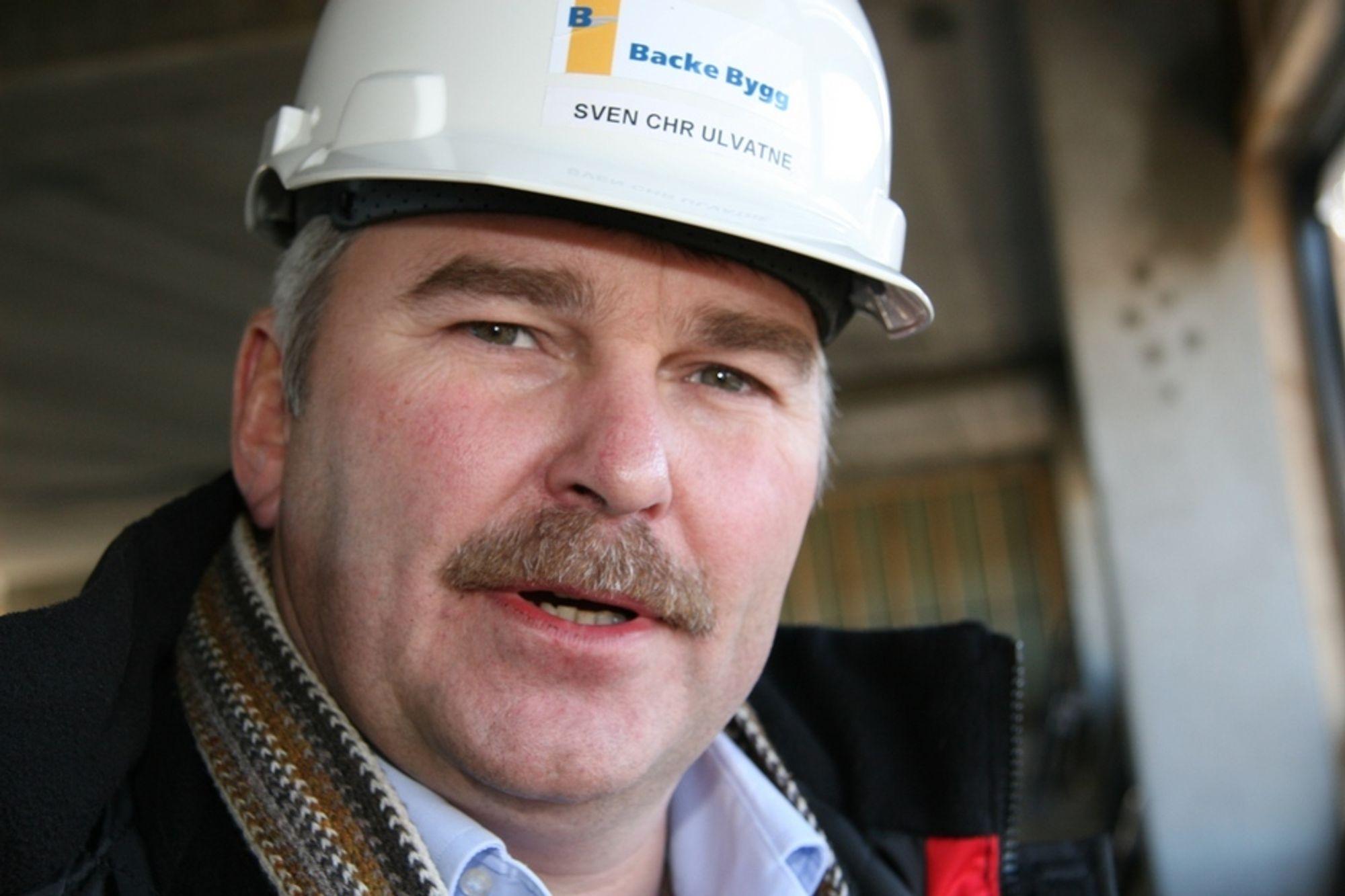 Grunnlegger og adm. dir. Svein Christian Ulvatne i Backe Bygg kan notere seg en ny kontrakt på 250 millioner kroner.