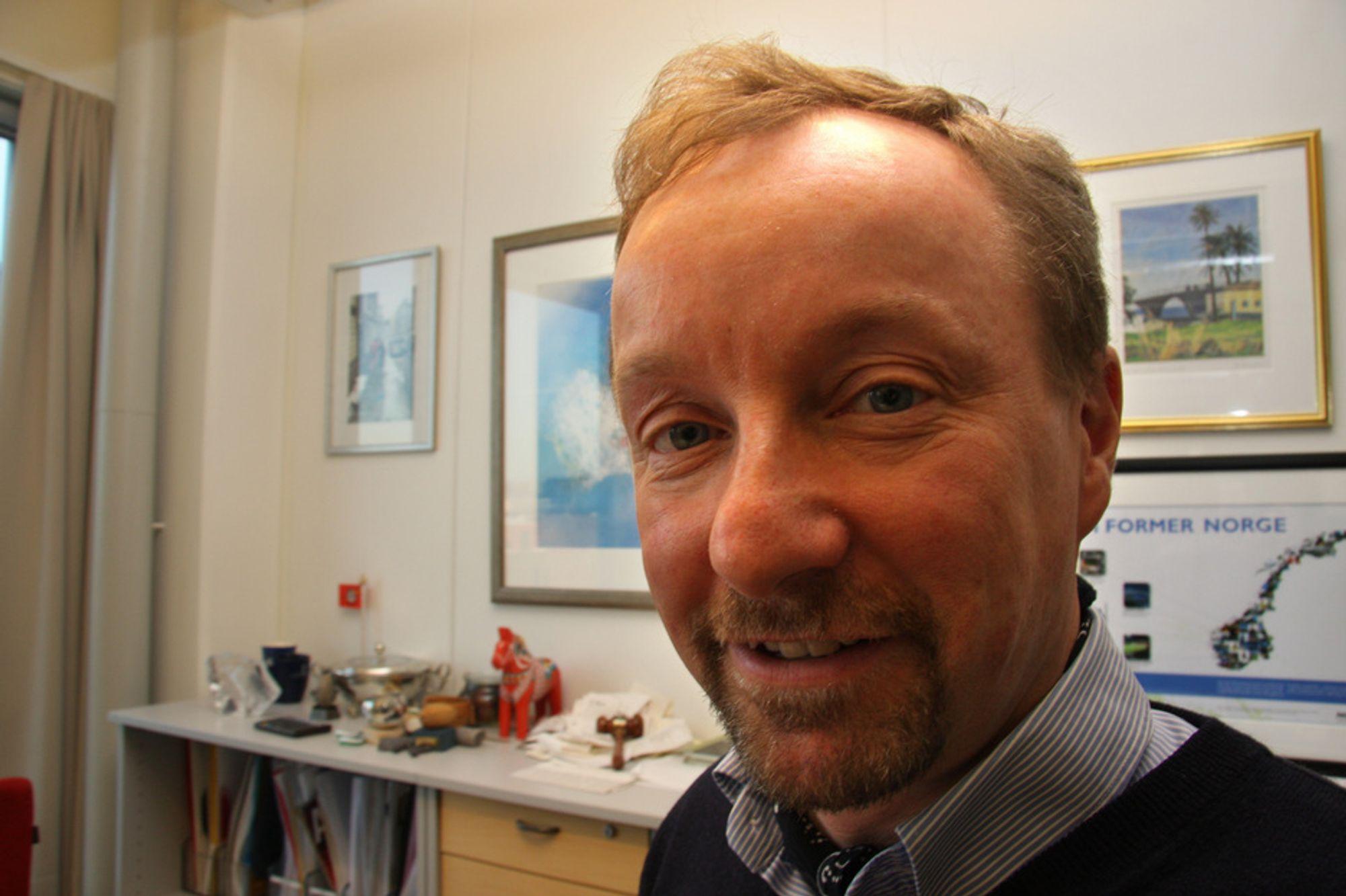 BRA: - Det er bra med høykonjunktur, men det finnes en grense, sier Peter Gjörup, administrerende direktør i NCC Construction.