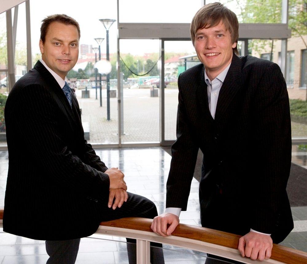Mulighet: Stian Rustad og Ståle Risa i 24Sevenoffice ser en mulighet til å tjene penger i nettskyen når næringslivet holder tibake på tradisjonelle IT-invetseringer.