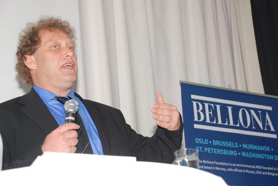 Bellona presenterer rapporten En helhetlig klimaplan 6. mai 2009. Leder Frederic Hauge.