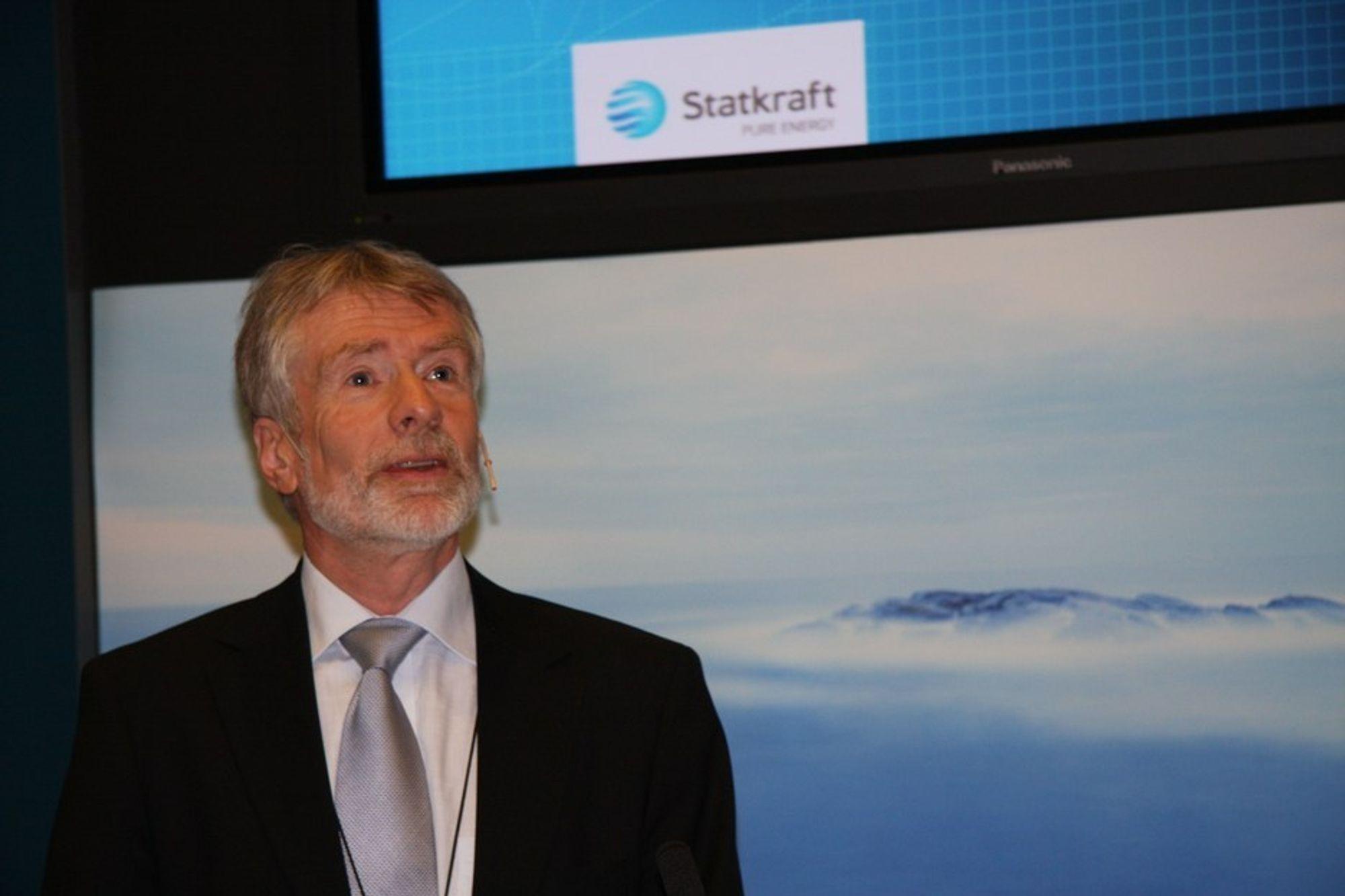 TRENGER PENGER: Konsernsjef Bård Mikkelsen i Statkraft har store planer for selskapet, men er avhengig av å ha regjeringen med på laget.